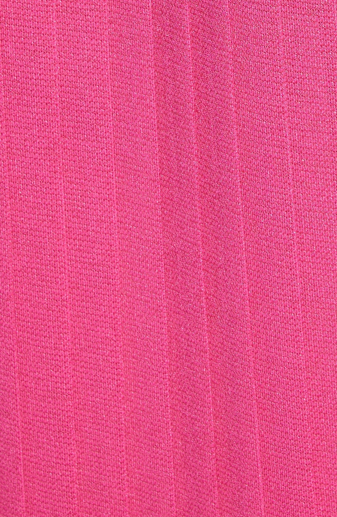Grecian Pleat Dress,                             Alternate thumbnail 5, color,                             Cyclamen