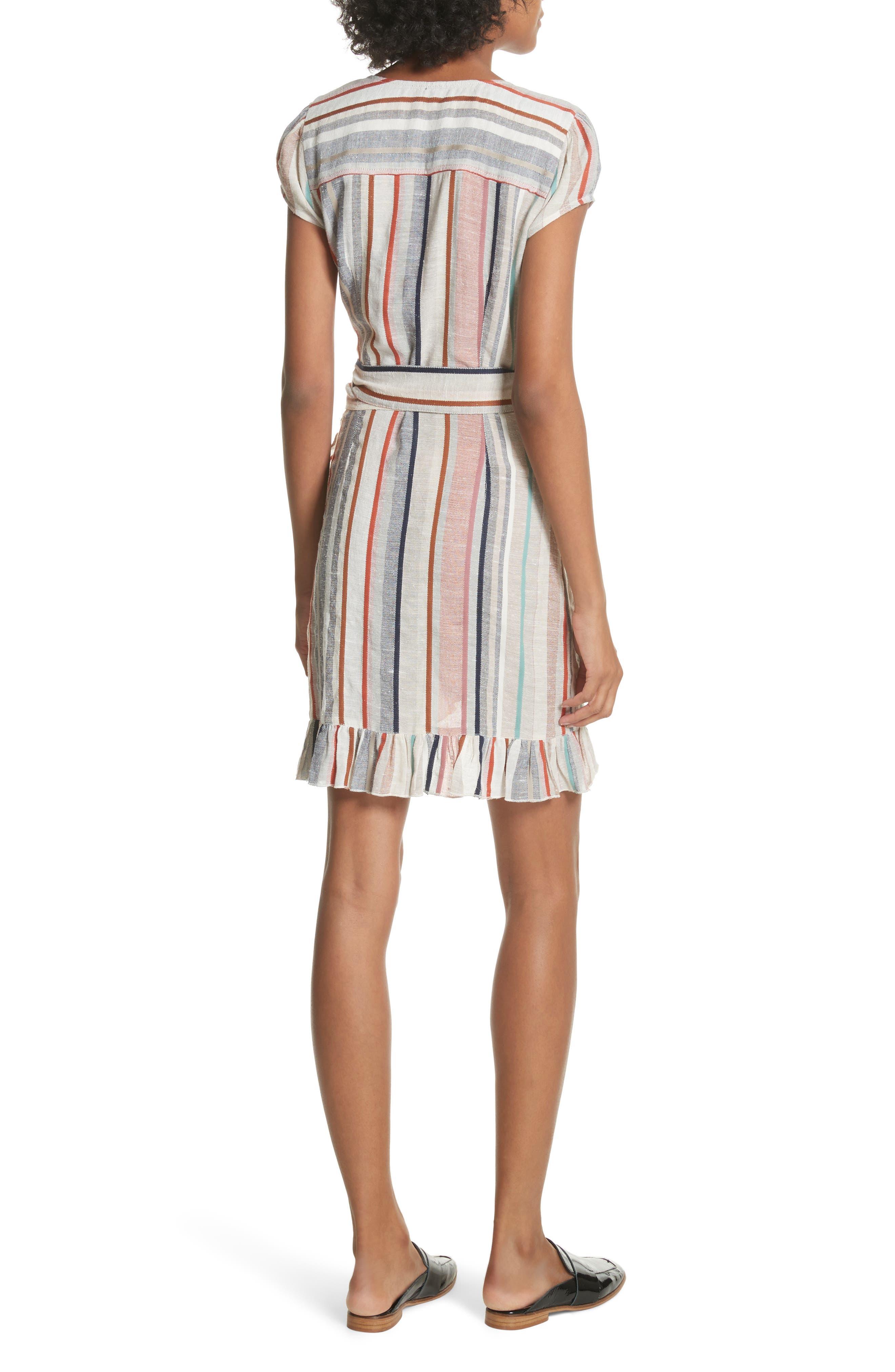 Wrap It Up Stripe Wrap Dress,                             Alternate thumbnail 2, color,                             Assort