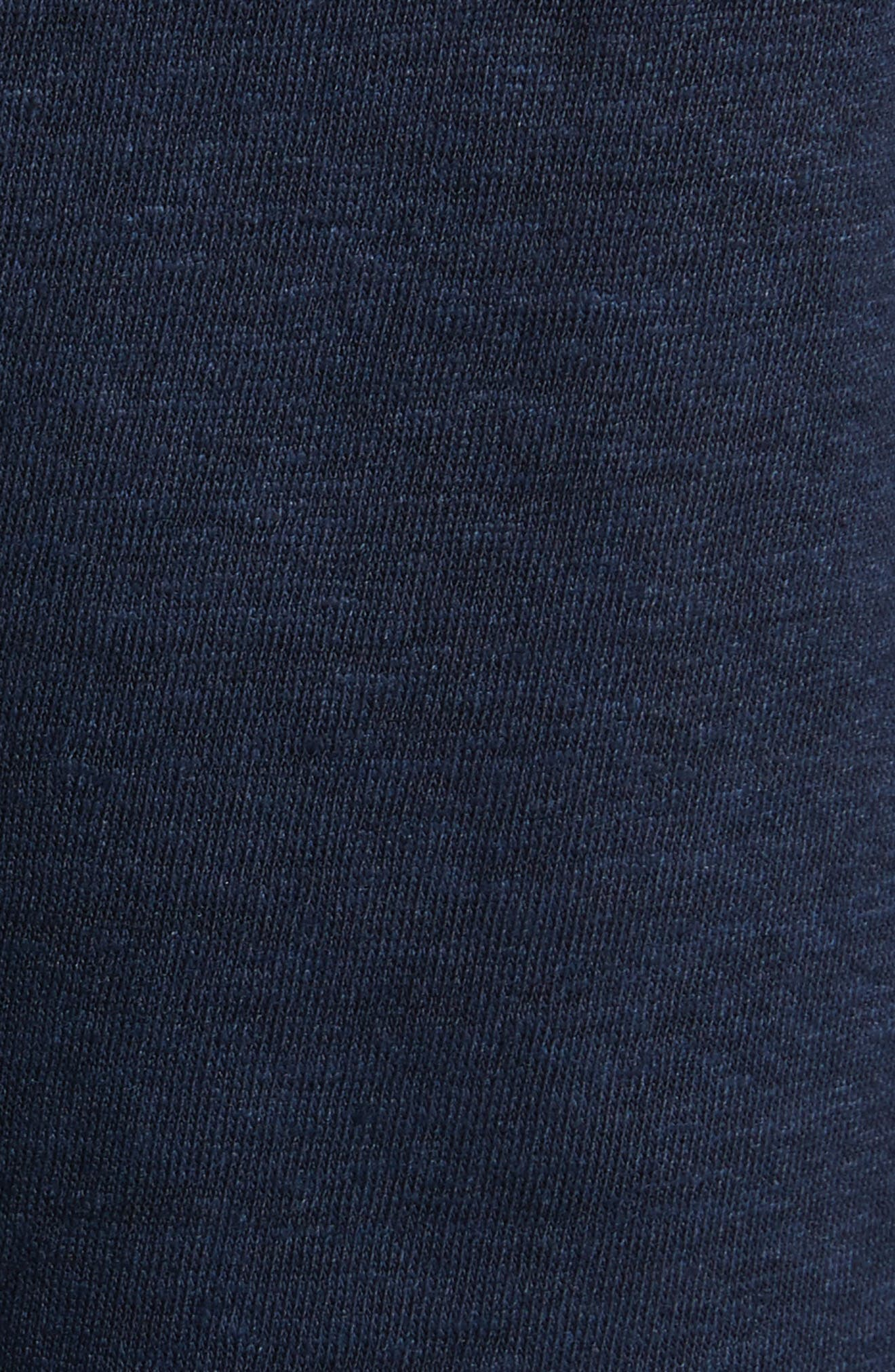 Embroidered Knit Dress,                             Alternate thumbnail 5, color,                             Tory Navy