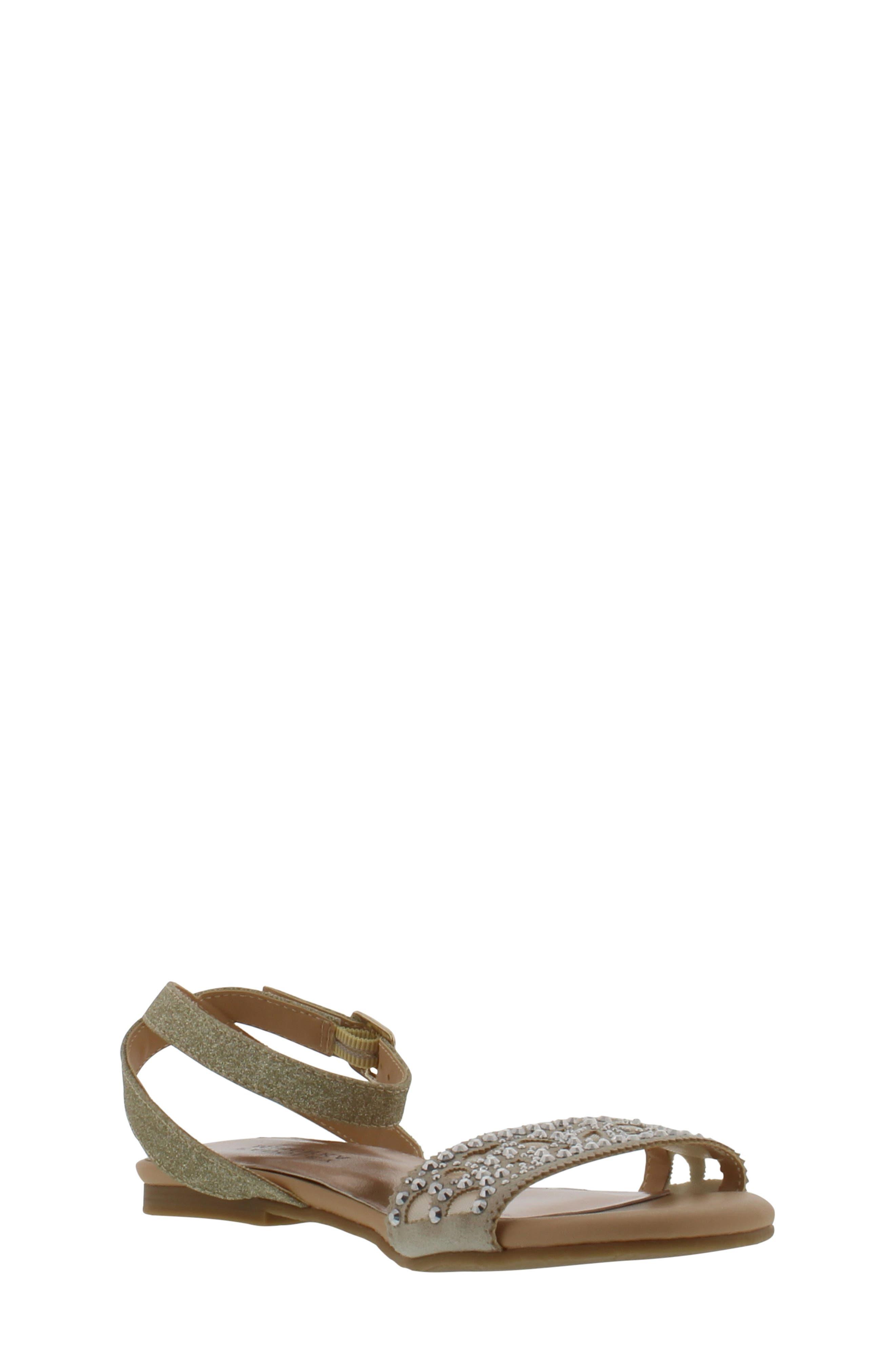 Alternate Image 1 Selected - Badgley Mischka Cara Embellished Sandal (Toddler, Little Kid & Big Kid)