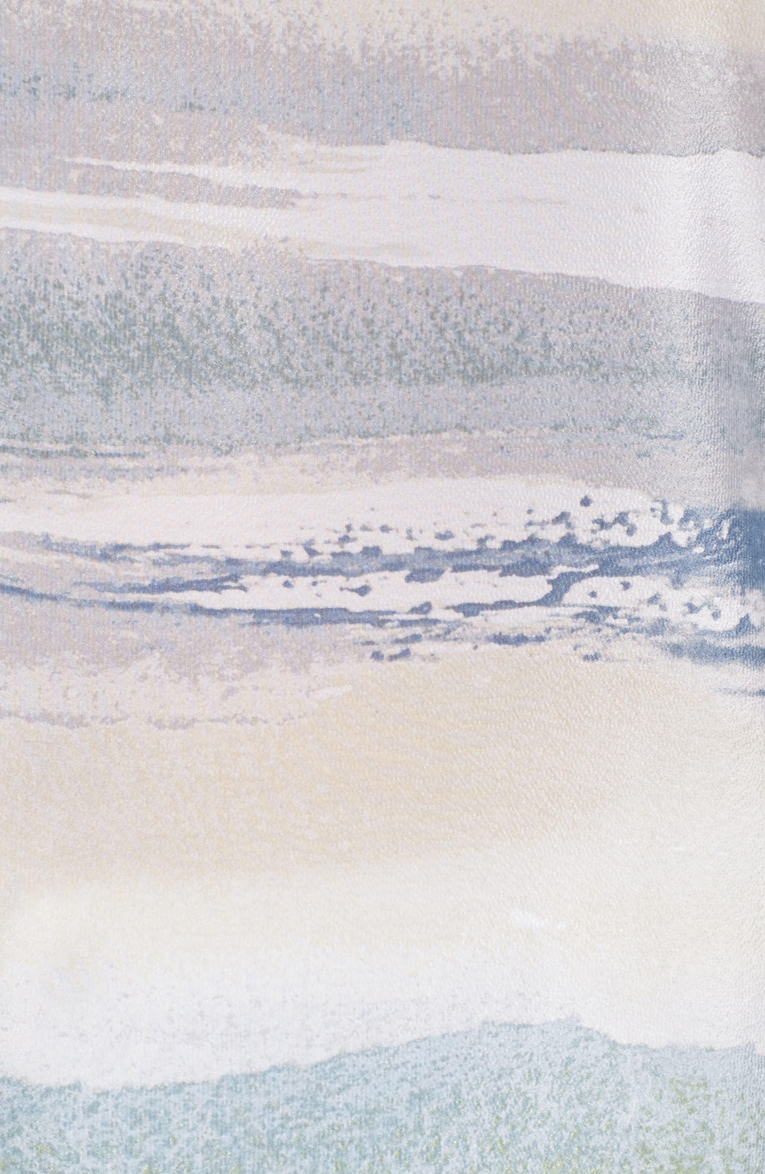 Watercolor Silk Blend Top,                             Alternate thumbnail 5, color,                             Multi