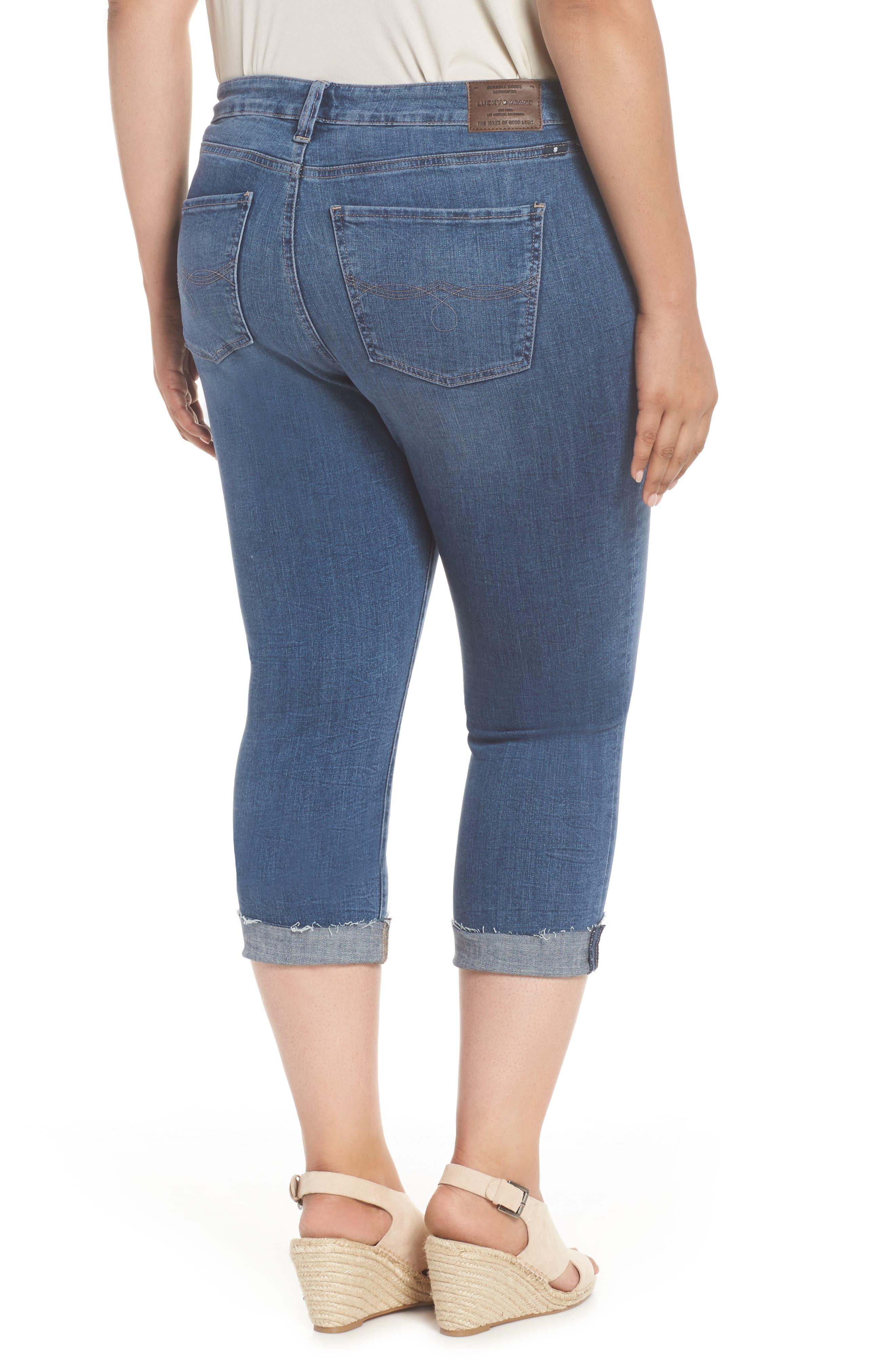 Emma Crop Skinny Jeans,                             Alternate thumbnail 2, color,                             Sunbeam-P