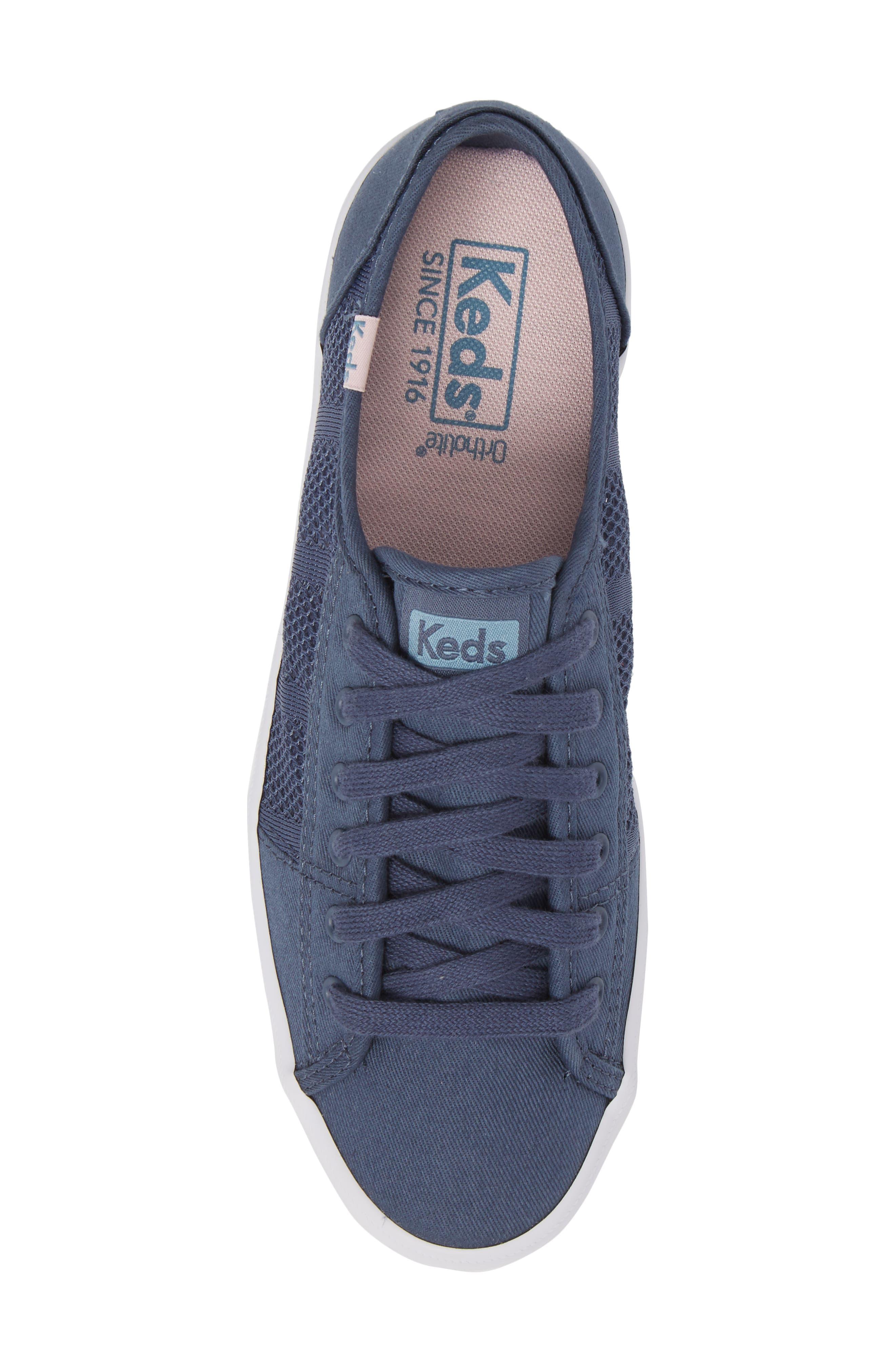 Kickstart Stripe Mesh Sneaker,                             Alternate thumbnail 5, color,                             Indigo