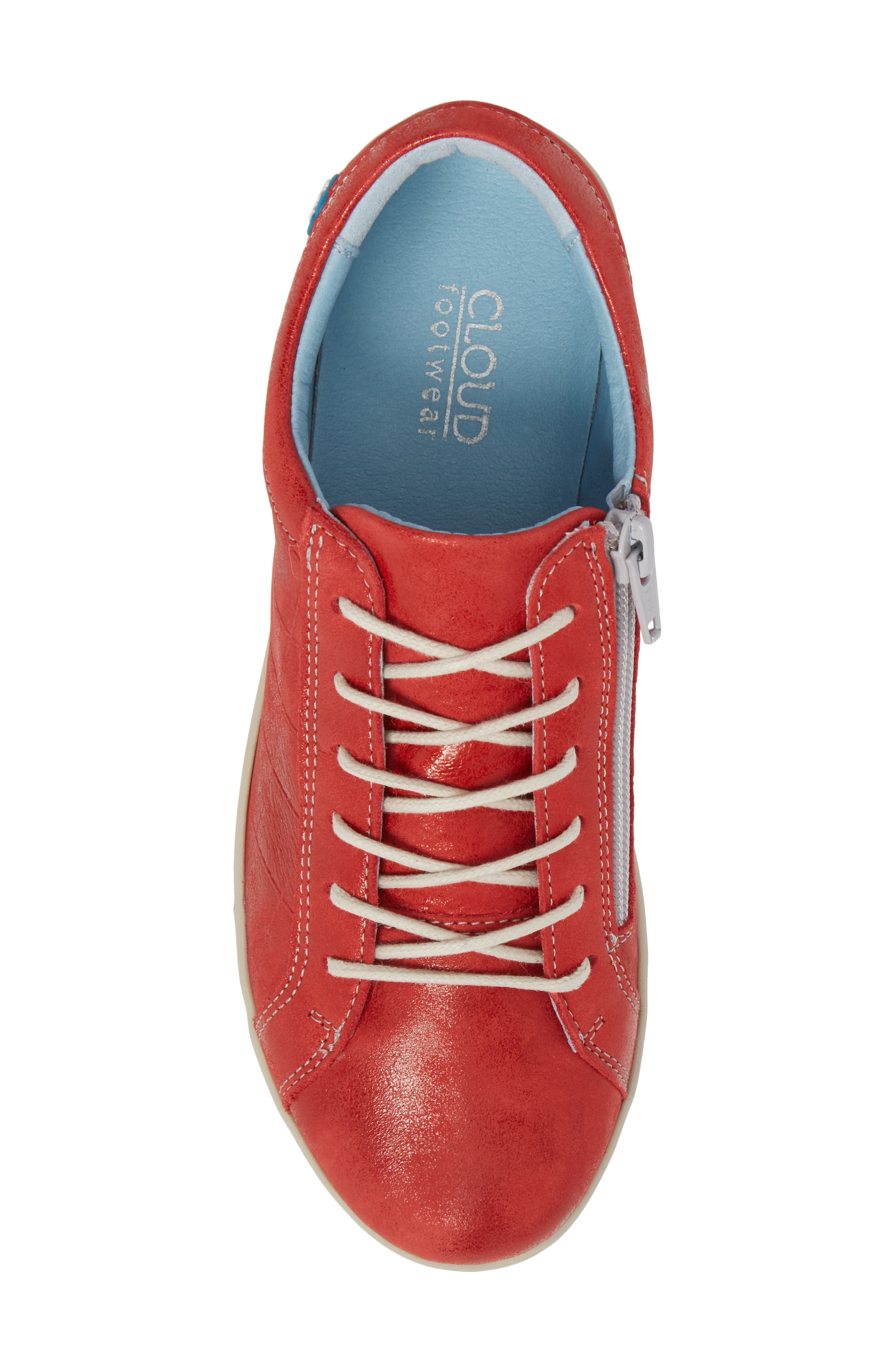 Alessia Sneaker,                             Alternate thumbnail 5, color,                             Red Stinger Leather