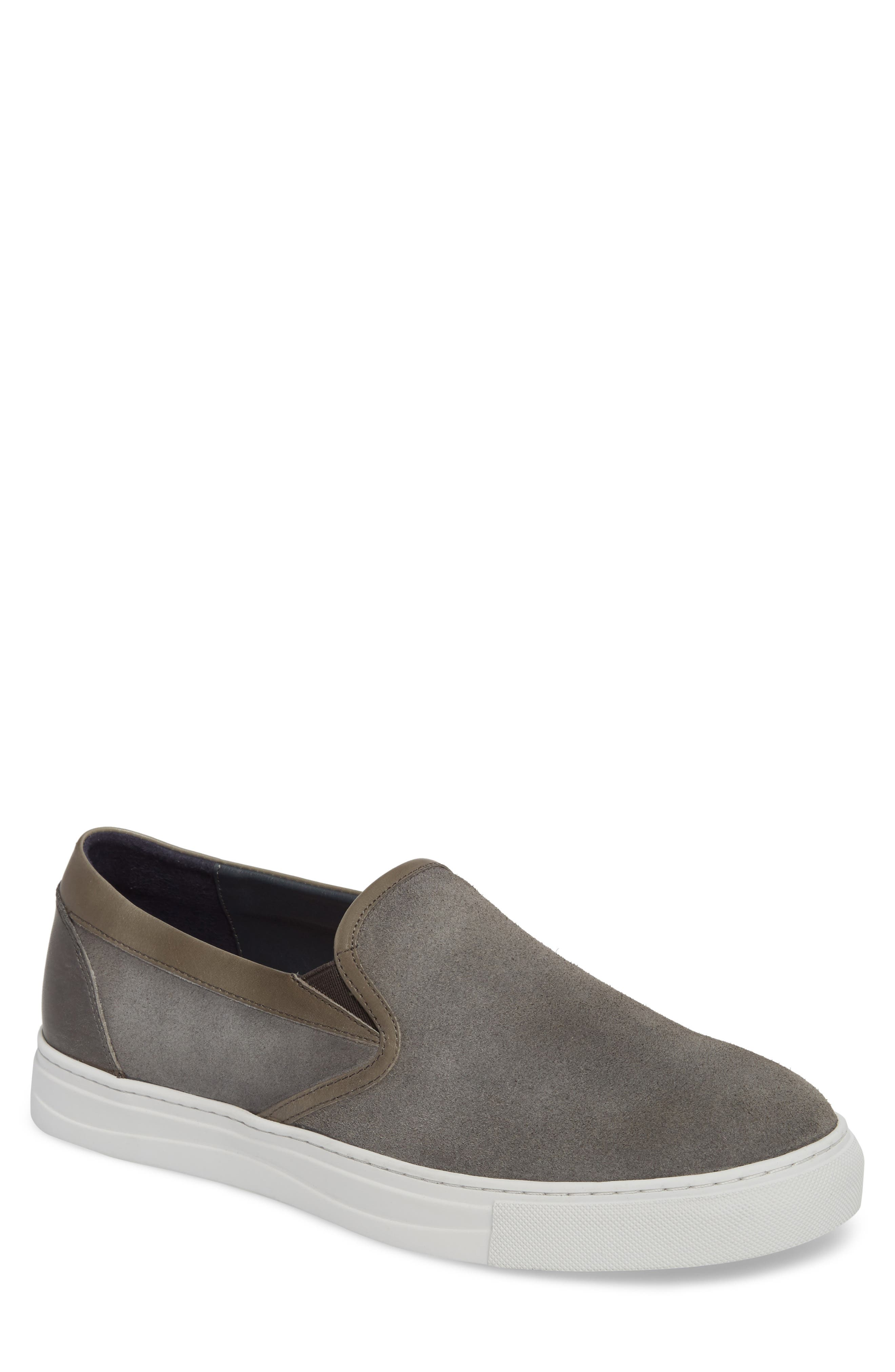 Vane Slip-On Sneaker,                             Main thumbnail 1, color,                             Grey Suede/ Leather