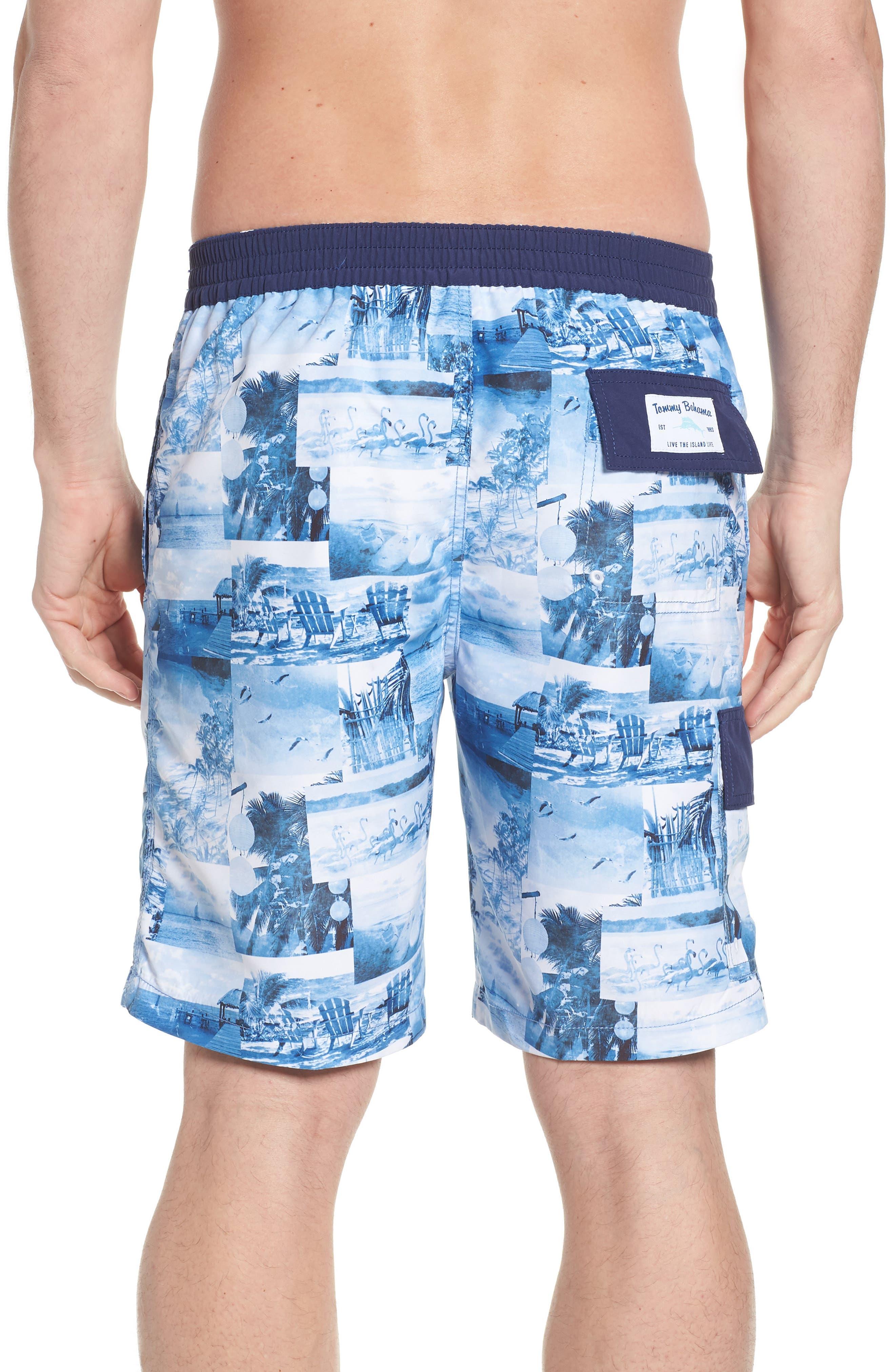 Baja Coast Busters Swim Trunks,                             Alternate thumbnail 2, color,                             Dockside Blue