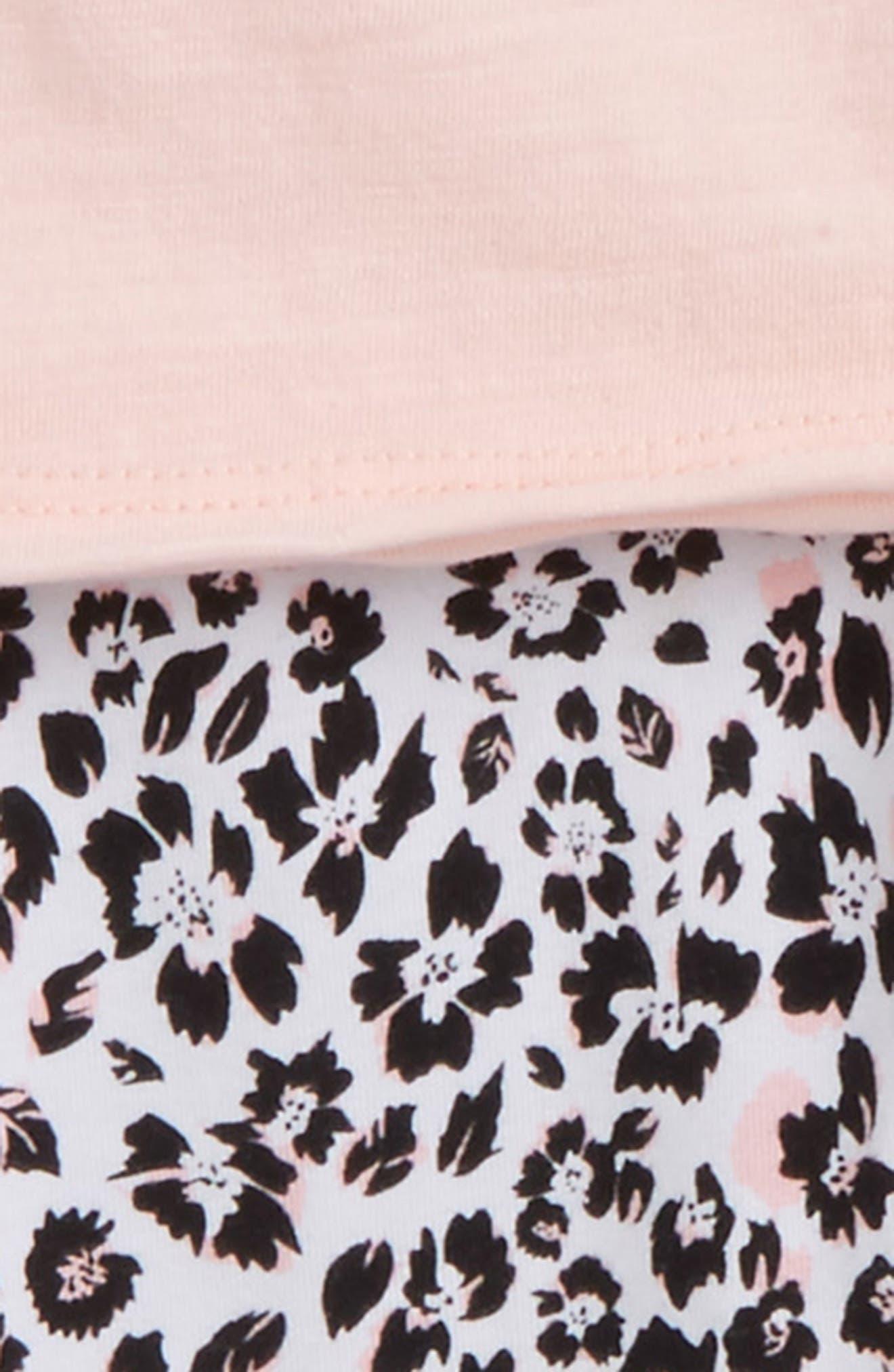 Swing Top & Floral Print Leggings Set,                             Alternate thumbnail 2, color,                             Seafoam Pink