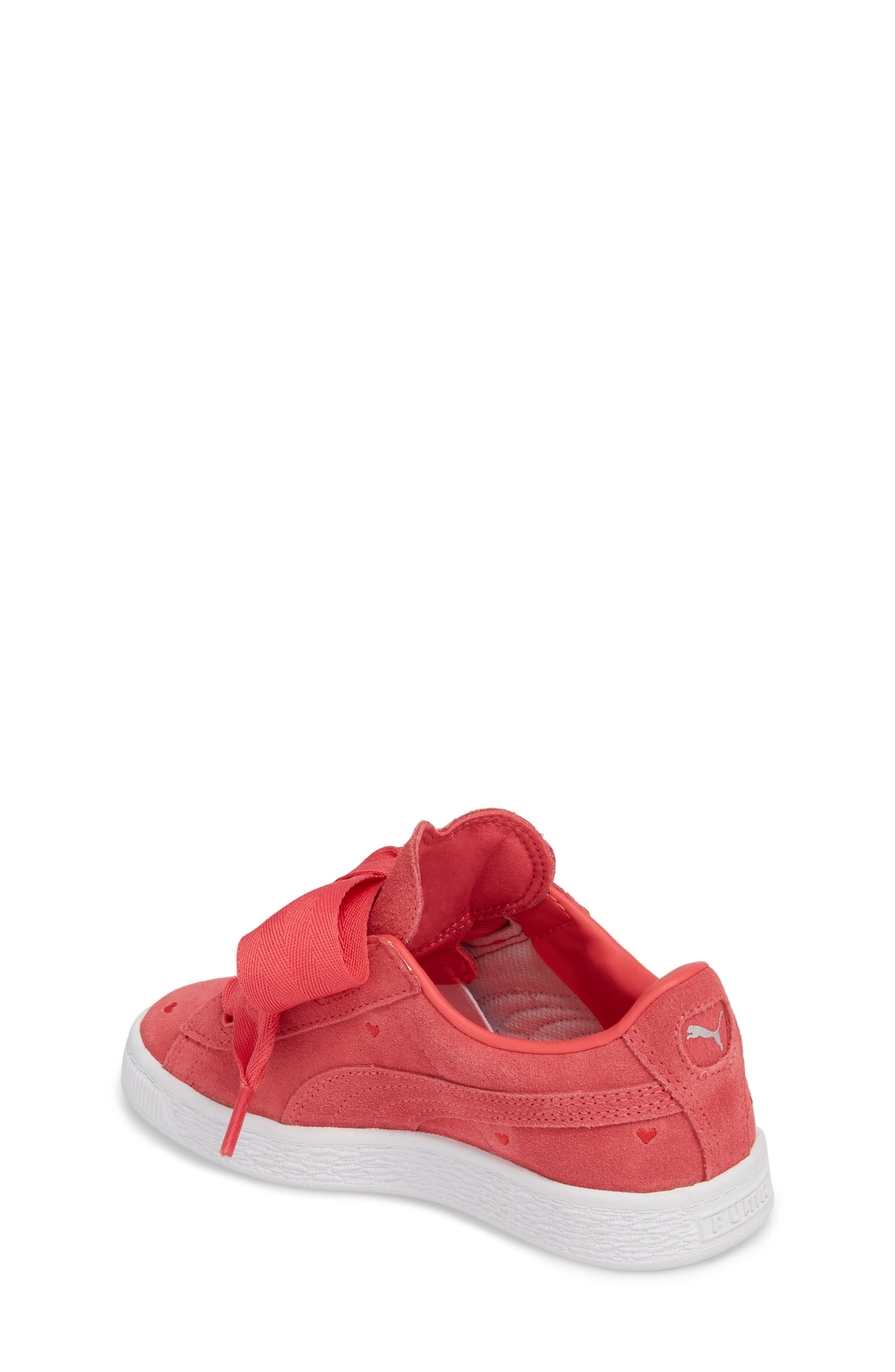 Suede Heart Valentine Sneaker,                             Alternate thumbnail 2, color,                             Paradise Pink/ Paradise Pink