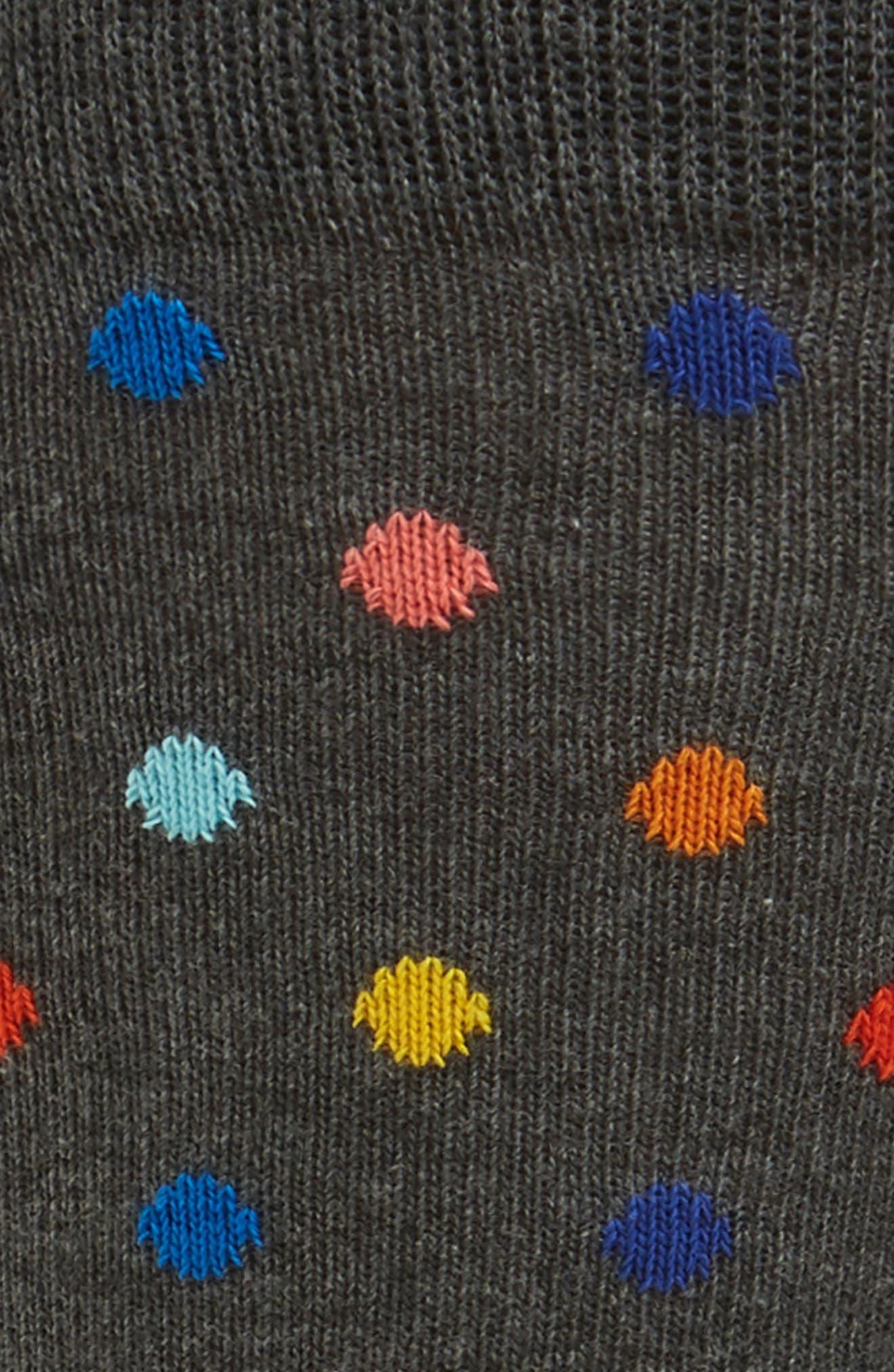 Stripe & Dot Pattern Socks,                             Alternate thumbnail 2, color,                             Grey Multi