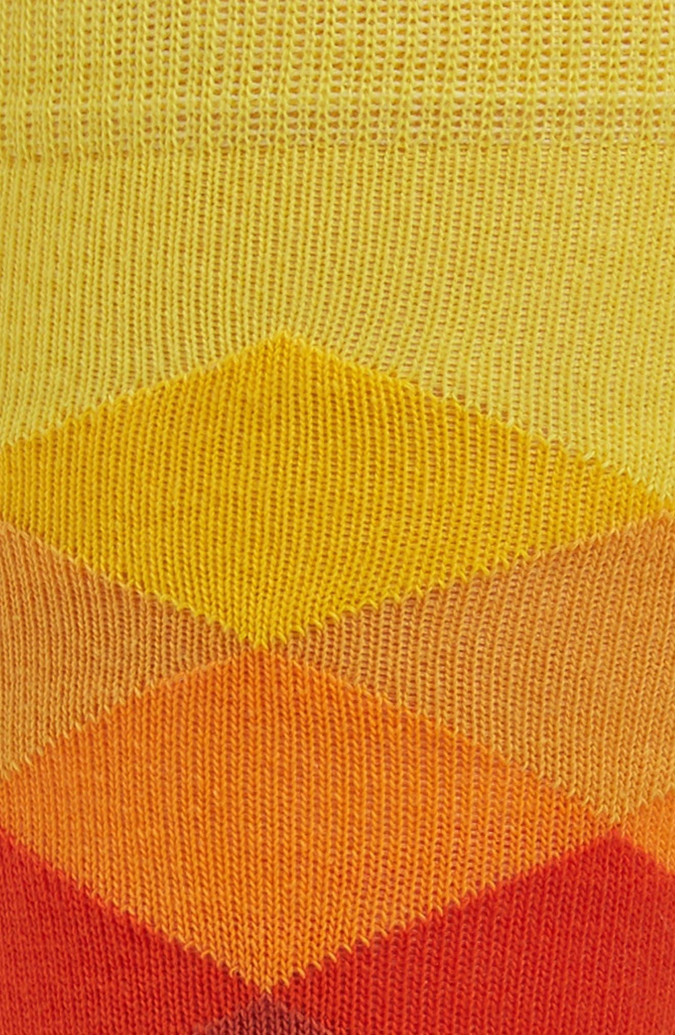 Faded Diamond Pattern Socks,                             Alternate thumbnail 2, color,                             Purple Multi