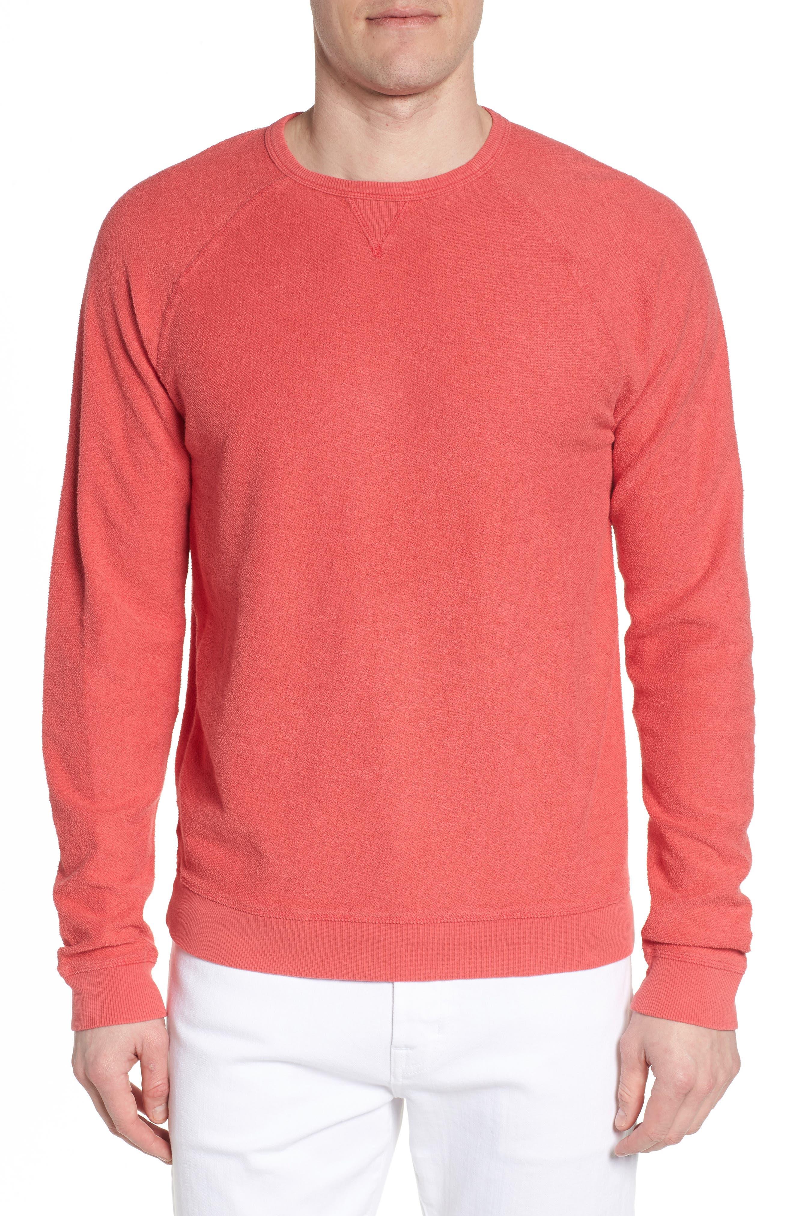 Mason Regular Fit Sweatshirt,                         Main,                         color, Malibu Red