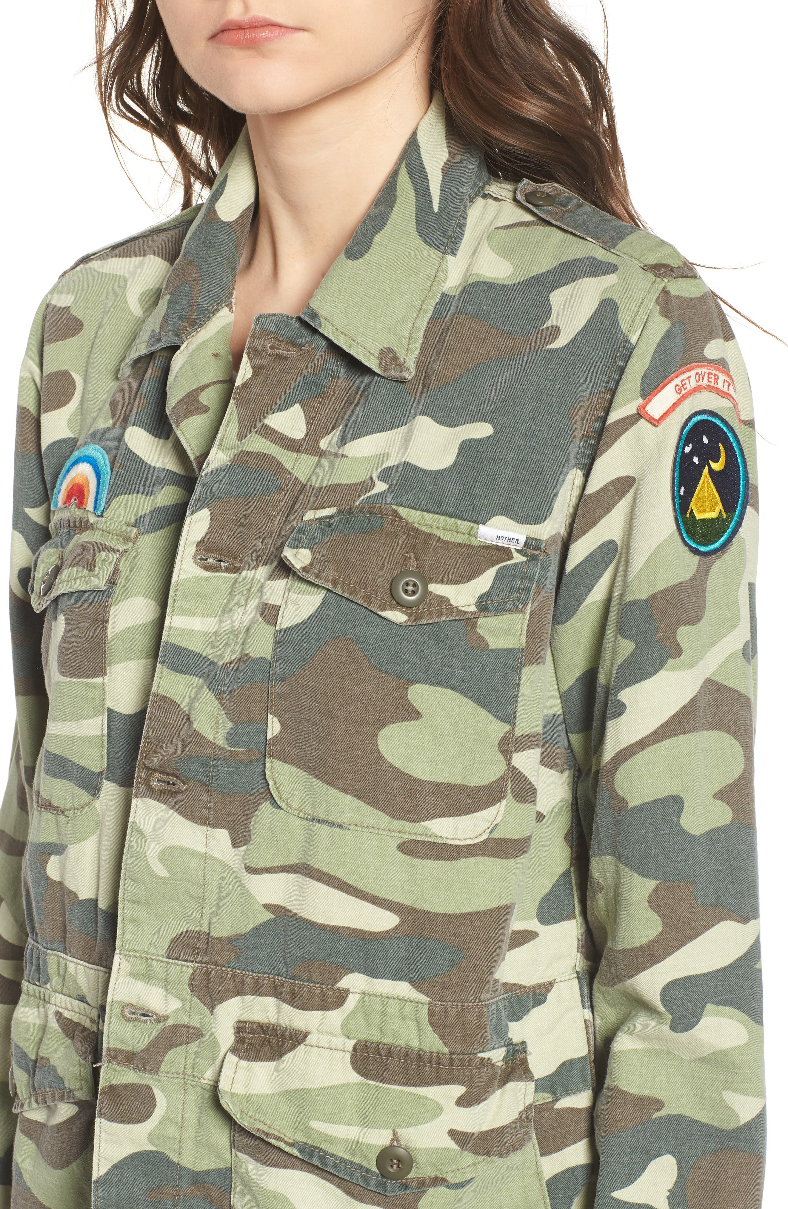 The Loose Veteran Camo Jacket,                             Alternate thumbnail 4, color,                             Camouflage