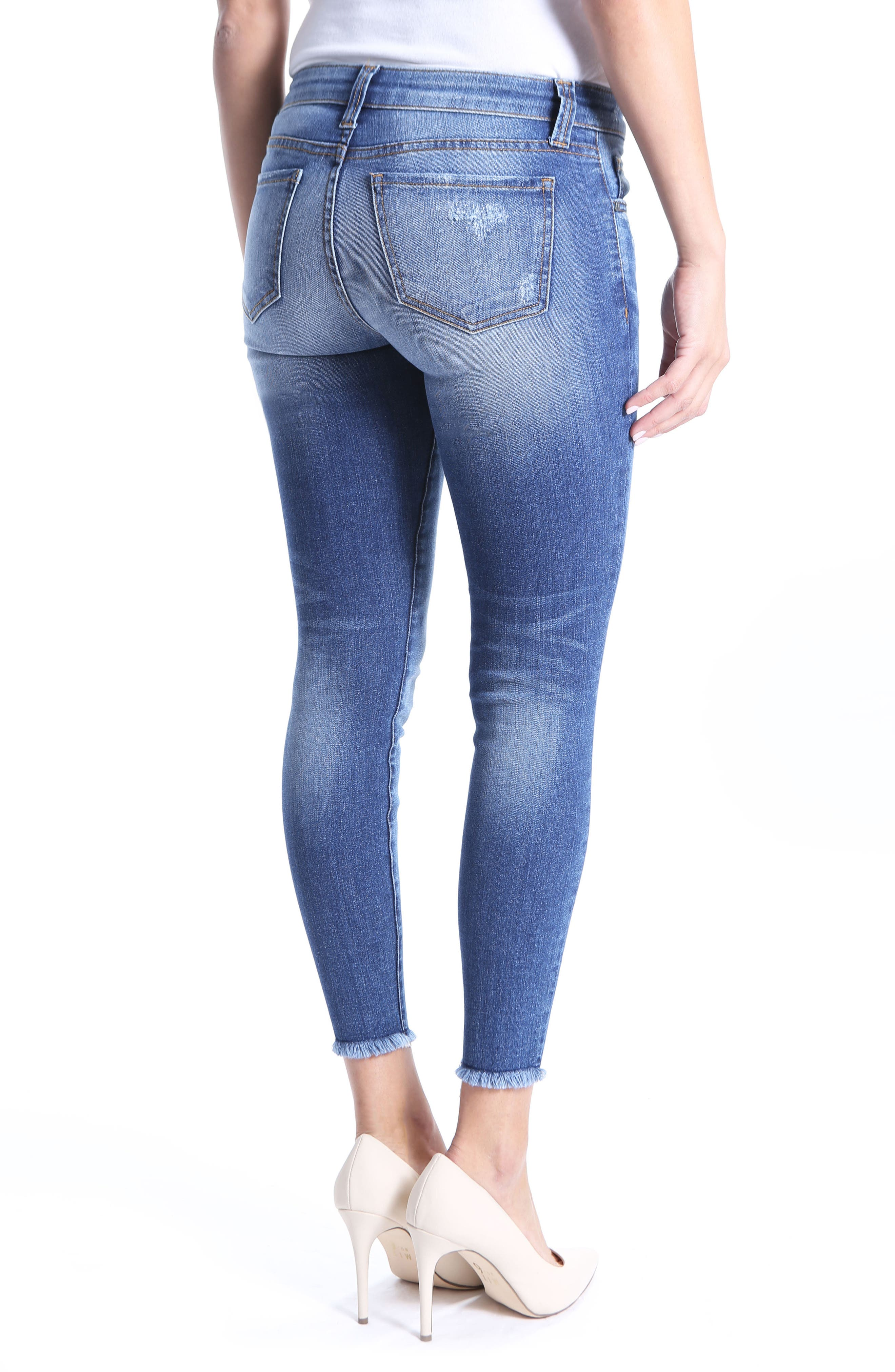 Connie Skinny Ankle Jeans,                             Alternate thumbnail 2, color,                             Guileless