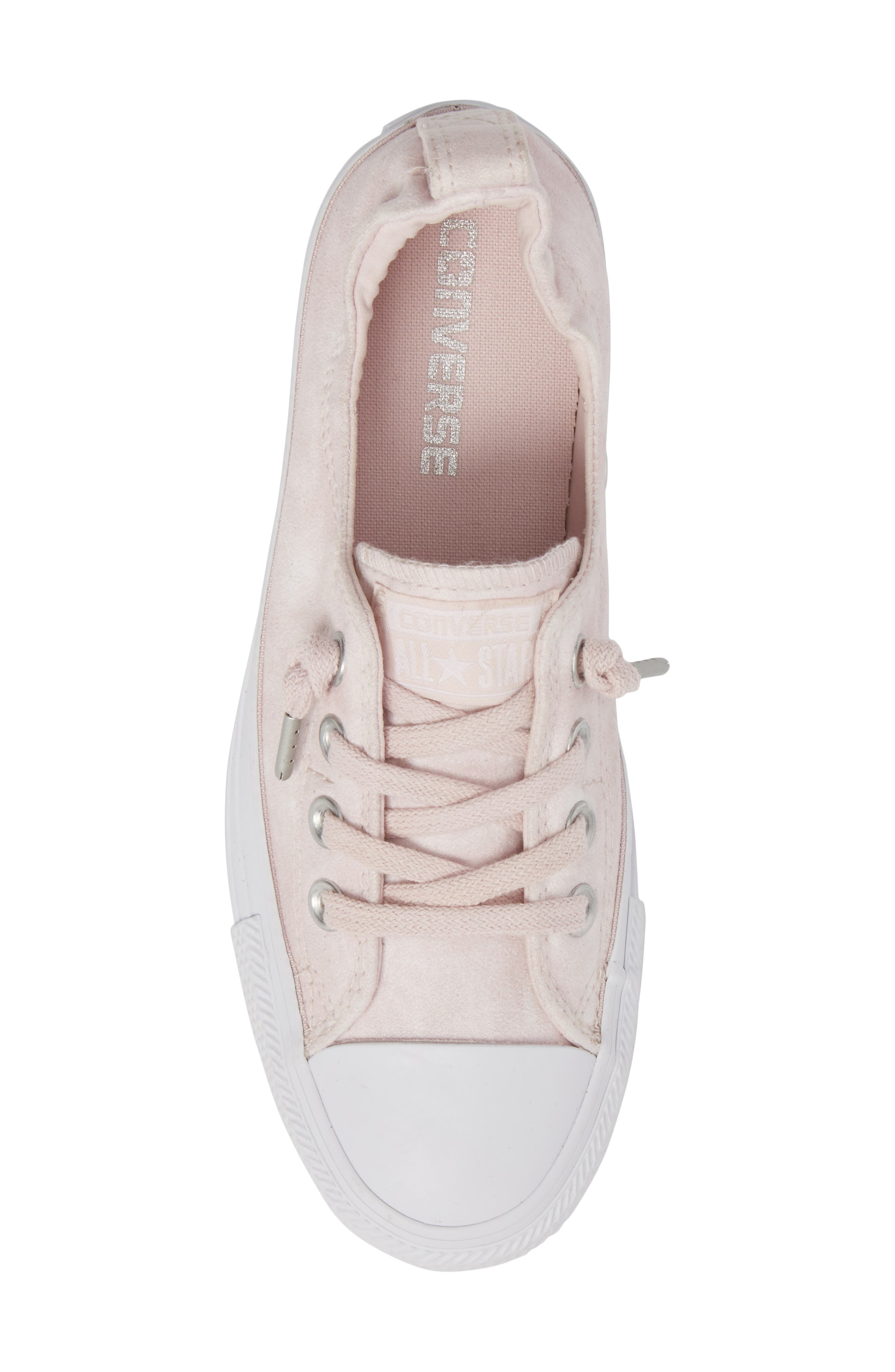 Chuck Taylor<sup>®</sup> All Star<sup>®</sup> Shoreline Peached Twill Sneaker,                             Alternate thumbnail 5, color,                             Barely Rose