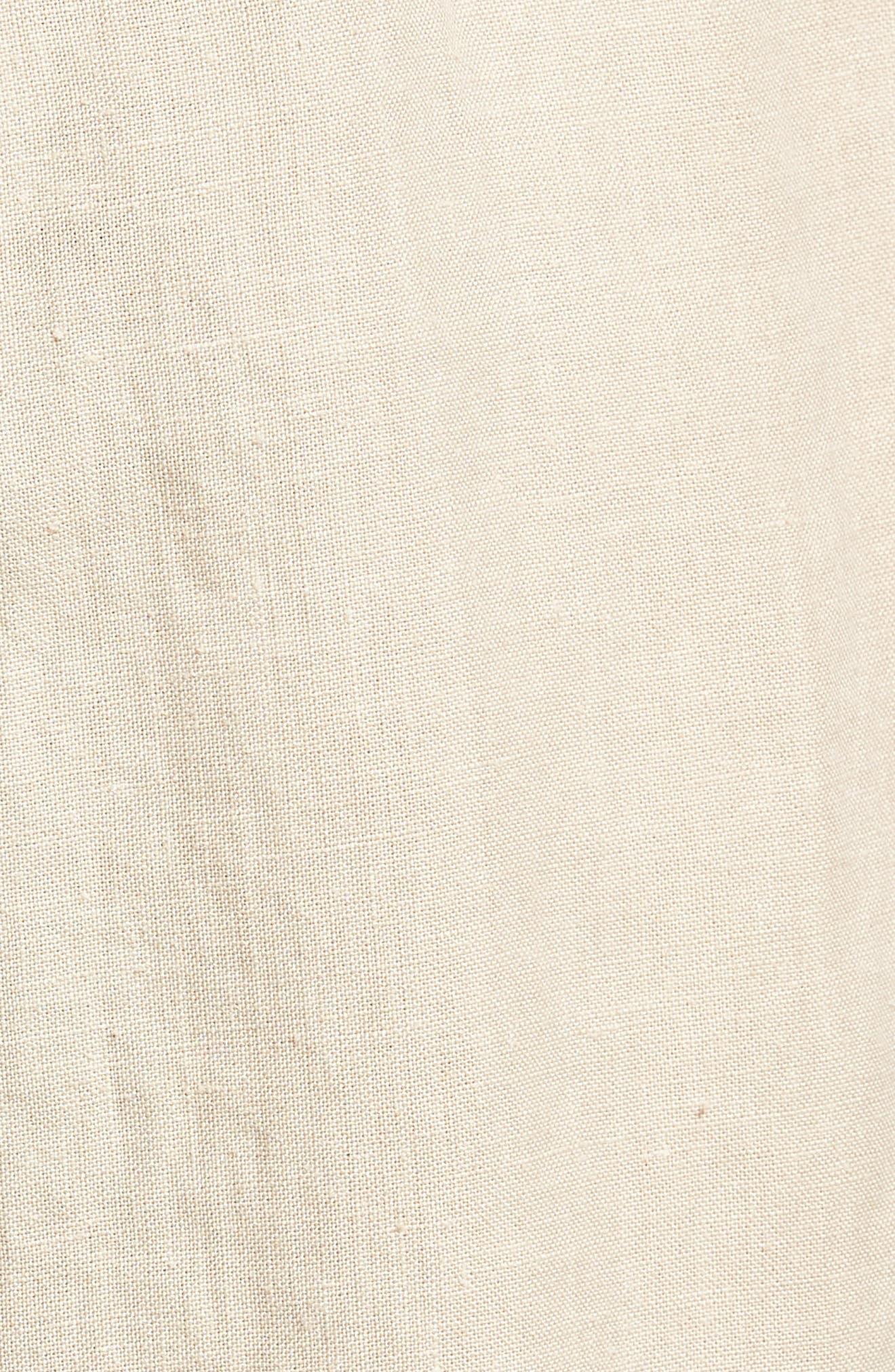 Raw Hem Slim Fit Track Shorts,                             Alternate thumbnail 5, color,                             White Sand