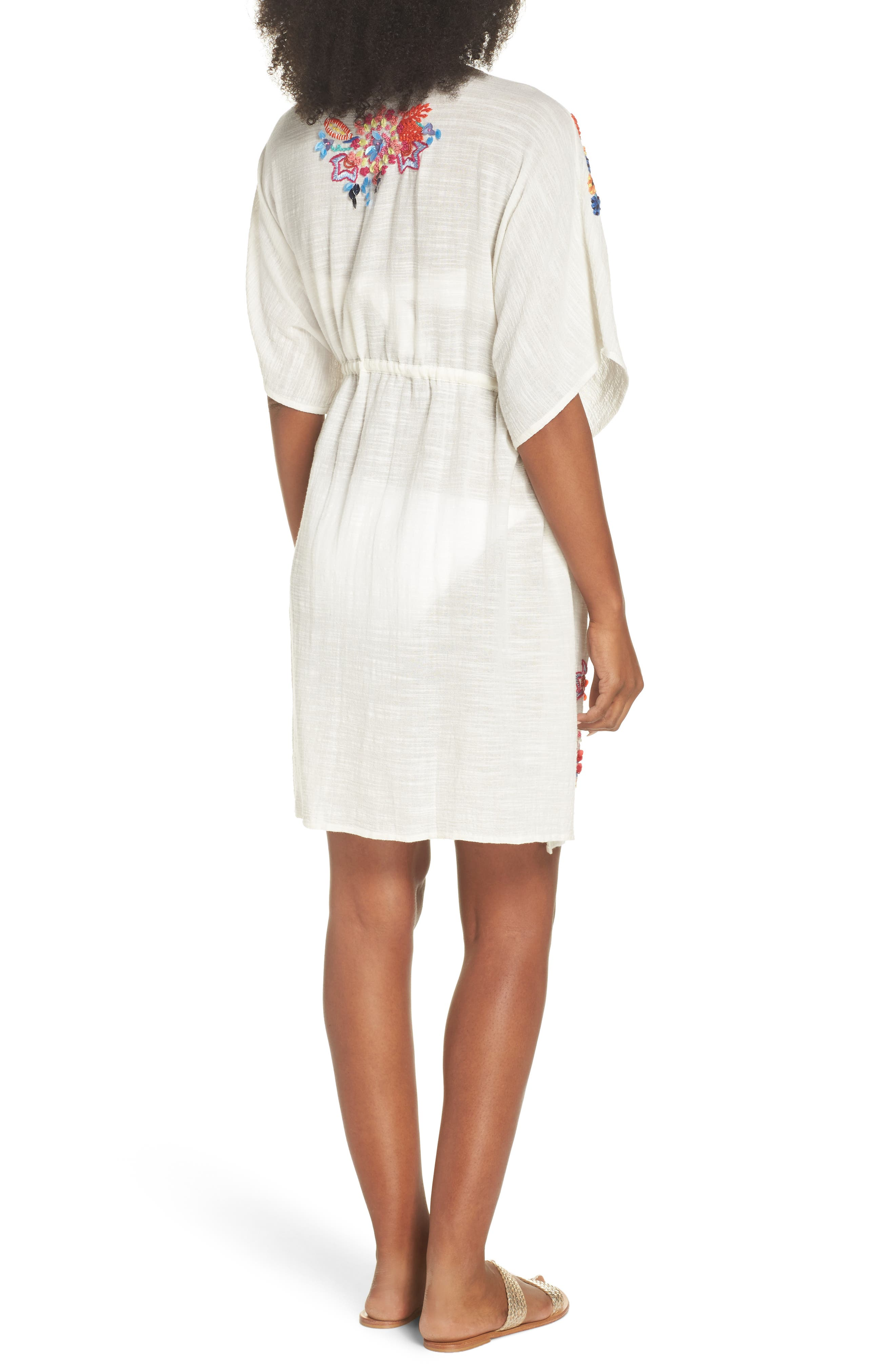 Wildflower Cover-Up Tunic,                             Alternate thumbnail 2, color,                             White
