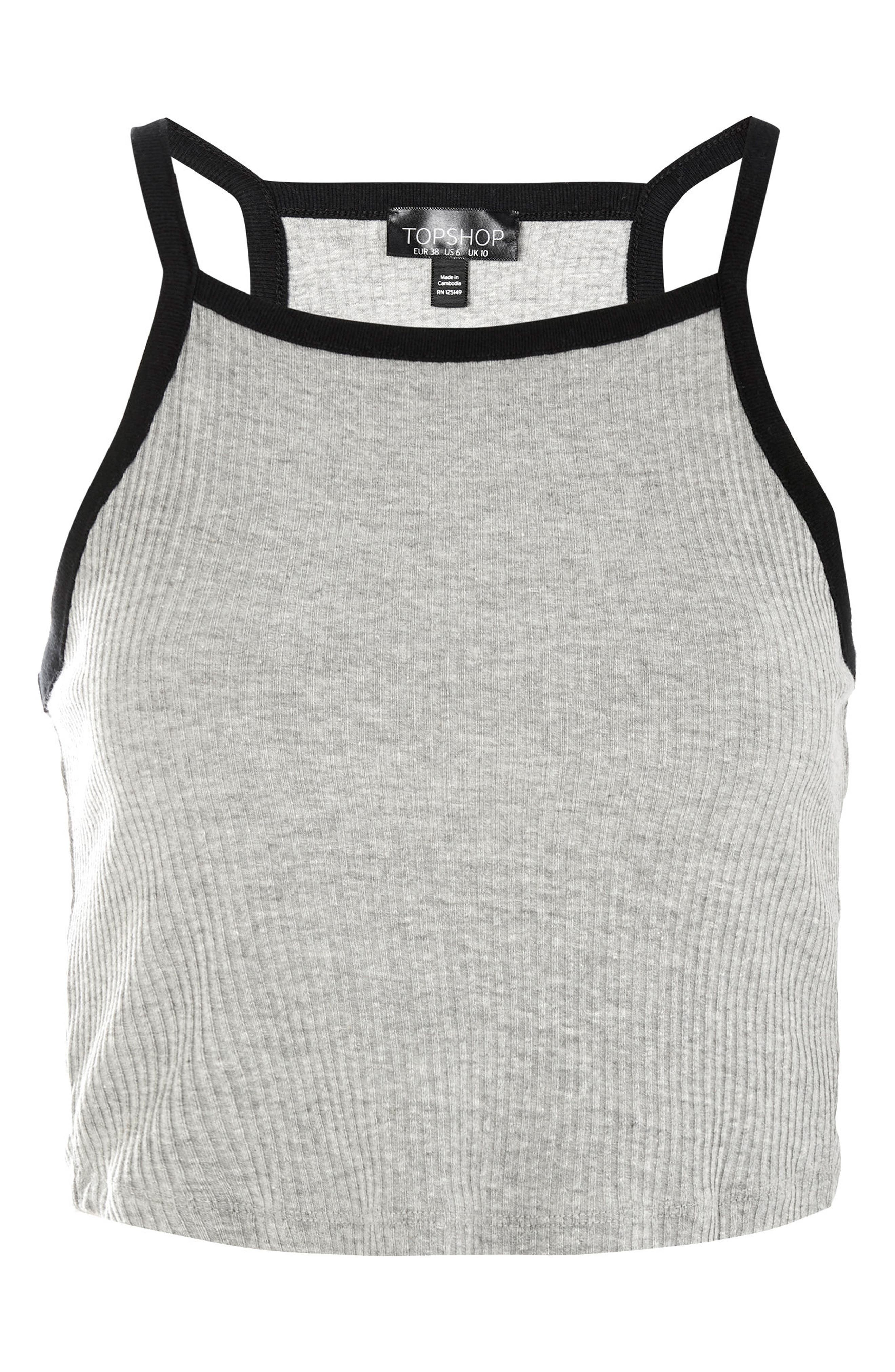 Louis Vest Camisole Top,                             Alternate thumbnail 3, color,                             Grey Multi
