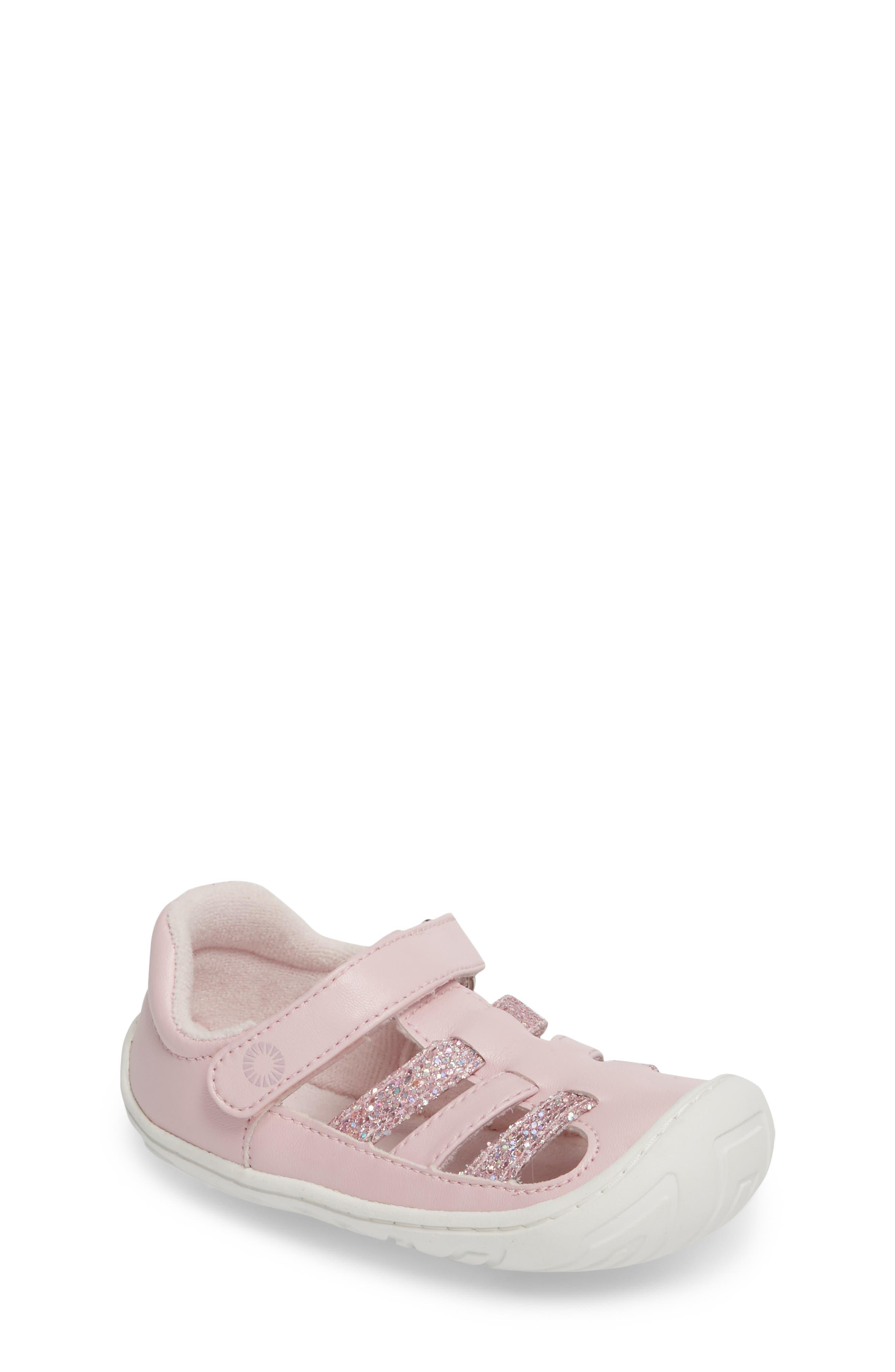 UGG® Santore Glitter Sandal (Baby, Walker & Toddler)
