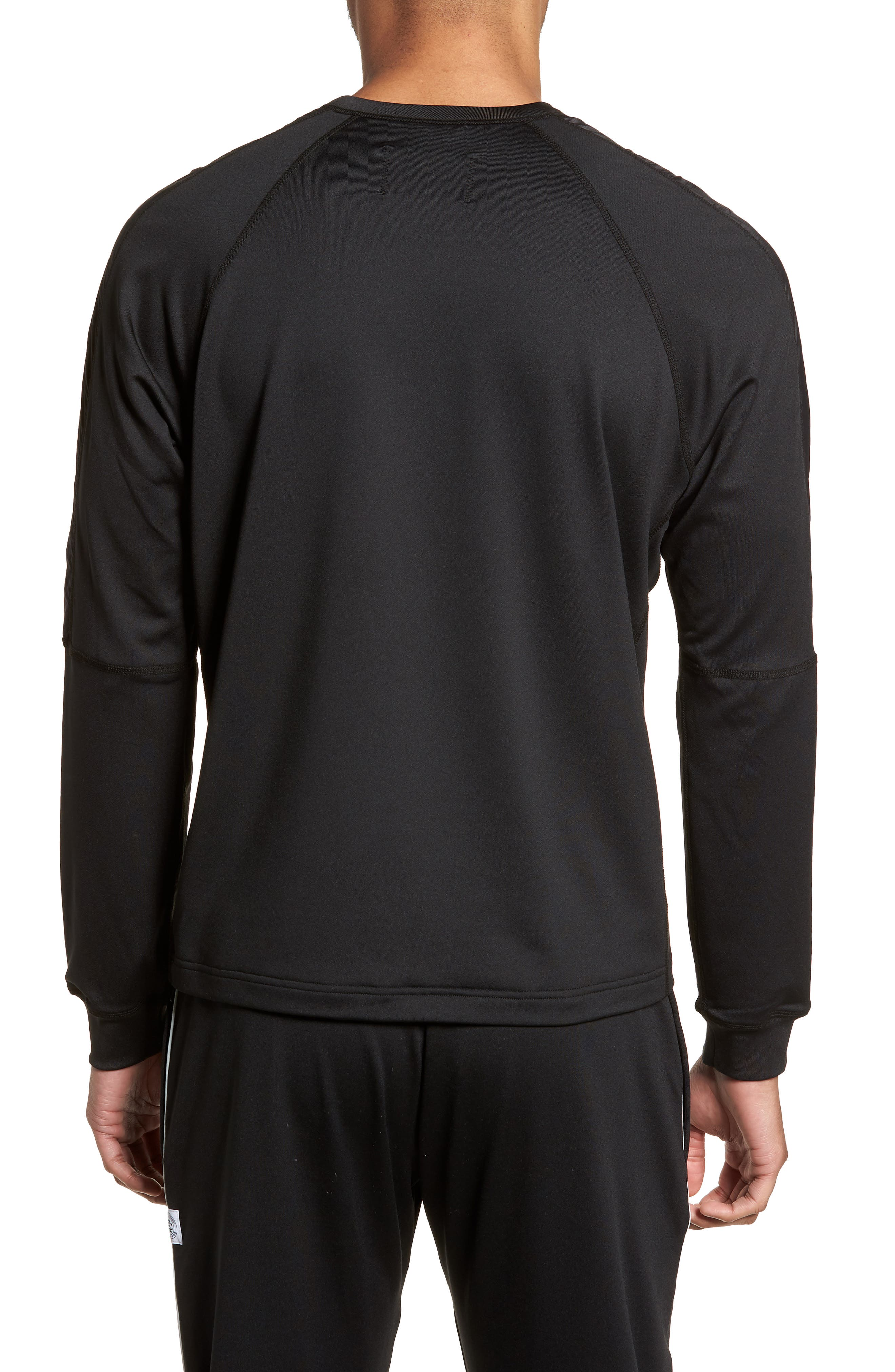 Hybrid Coolmax Crewneck Shirt,                             Alternate thumbnail 2, color,                             Black