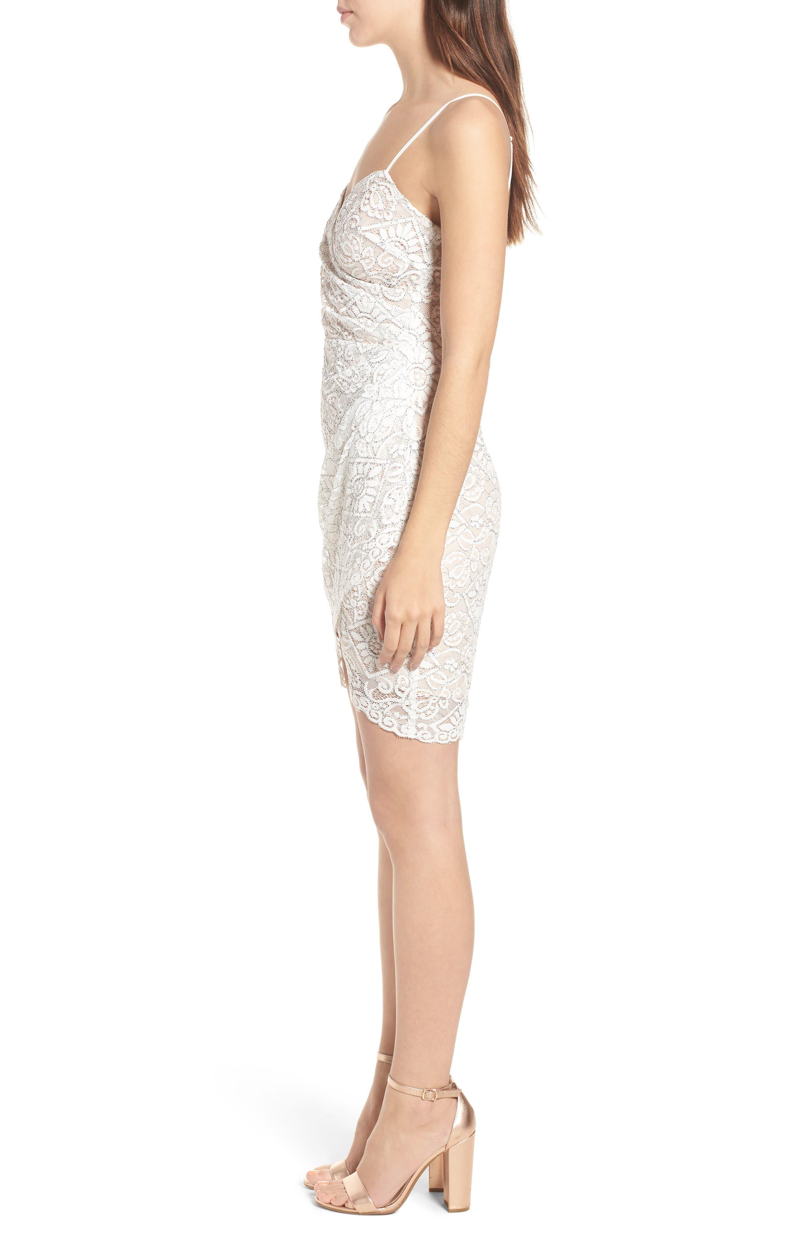 Lace Minidress,                             Alternate thumbnail 3, color,                             Ivory