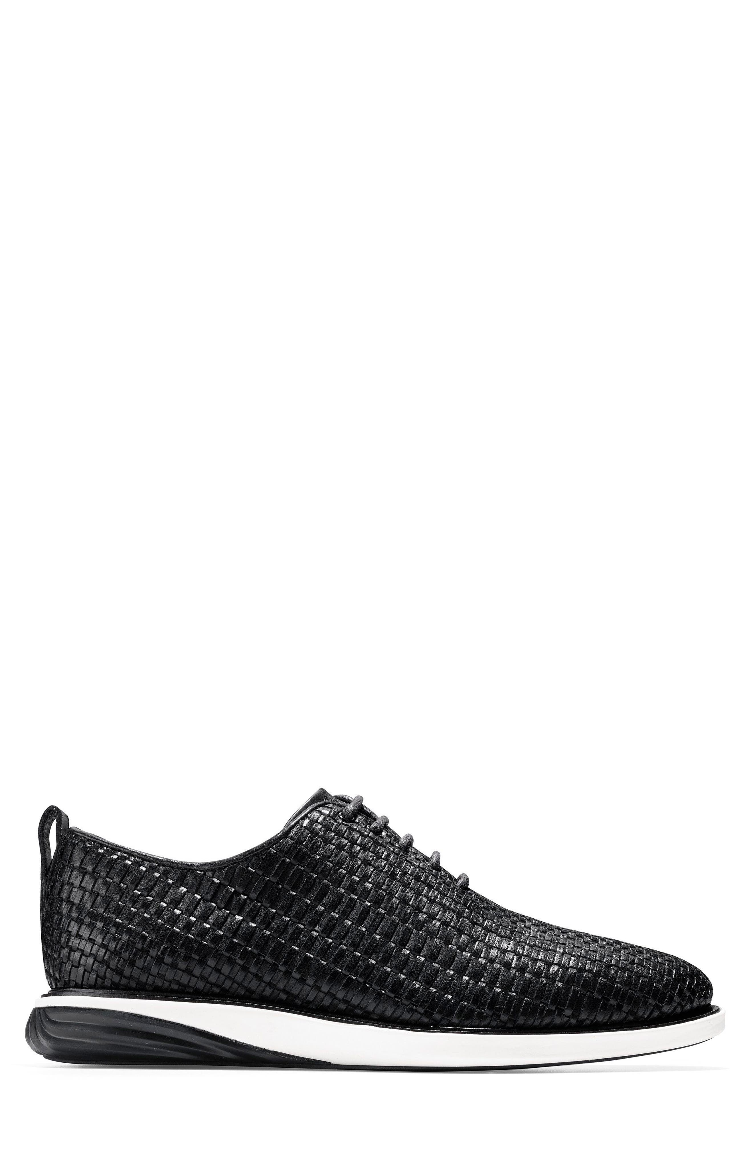 Grand Evolution Woven Oxford,                             Alternate thumbnail 3, color,                             Black Leather