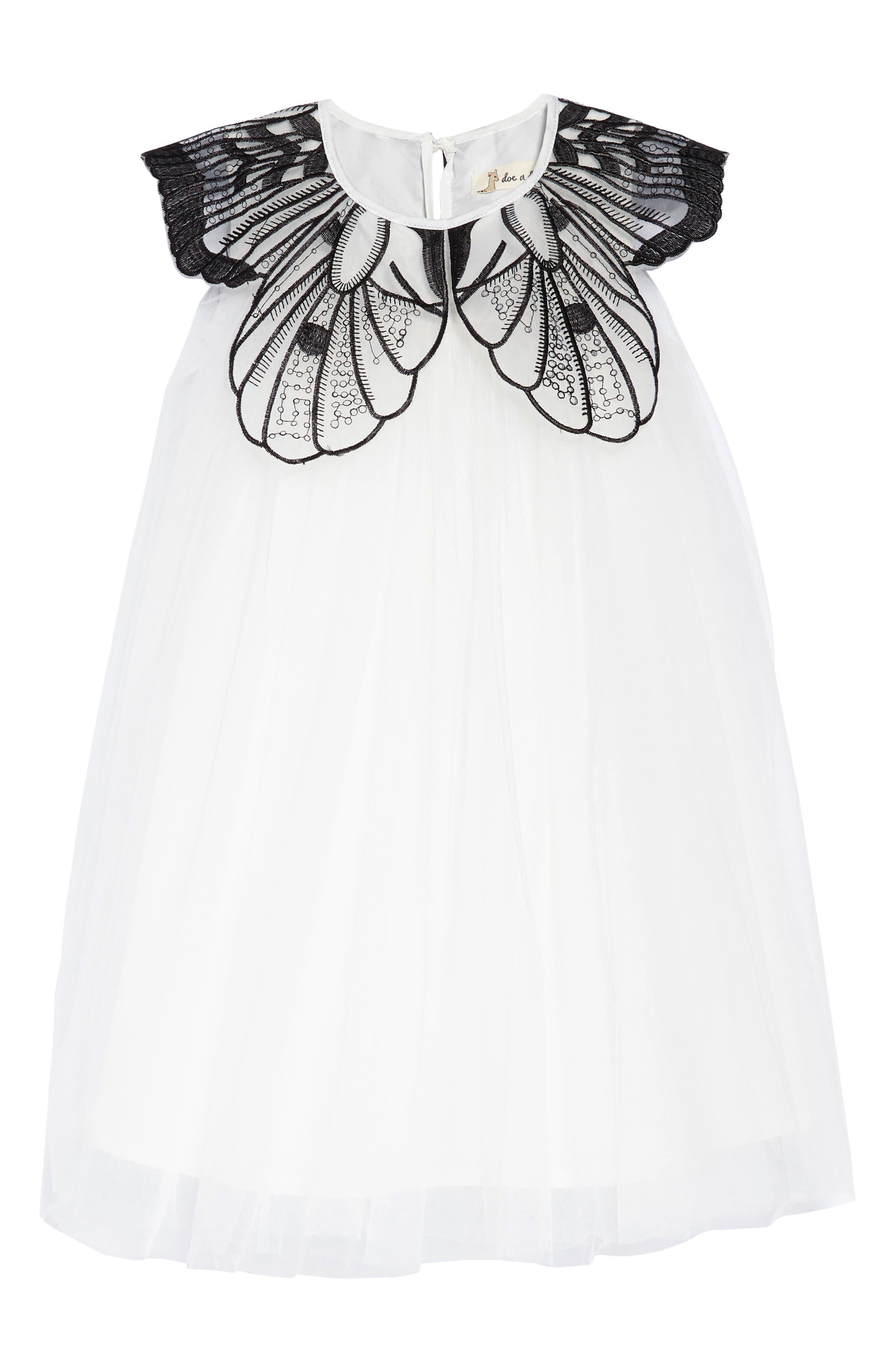 Main Image - Doe A Dear Butterfly Flap Dress (Toddler Girls, Little Girls & Big Girls)
