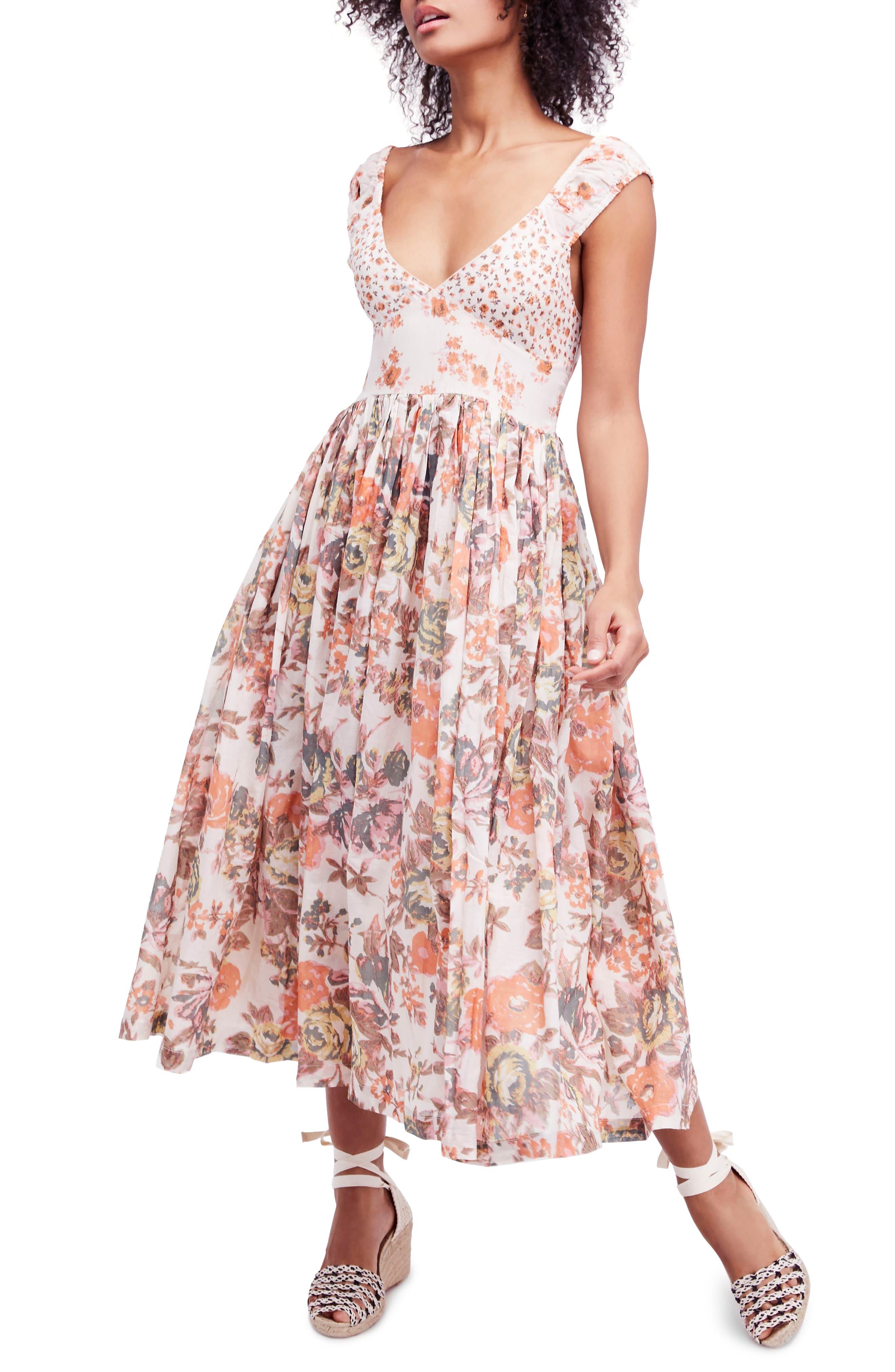 Love You Midi Dress,                             Main thumbnail 1, color,                             Ivory
