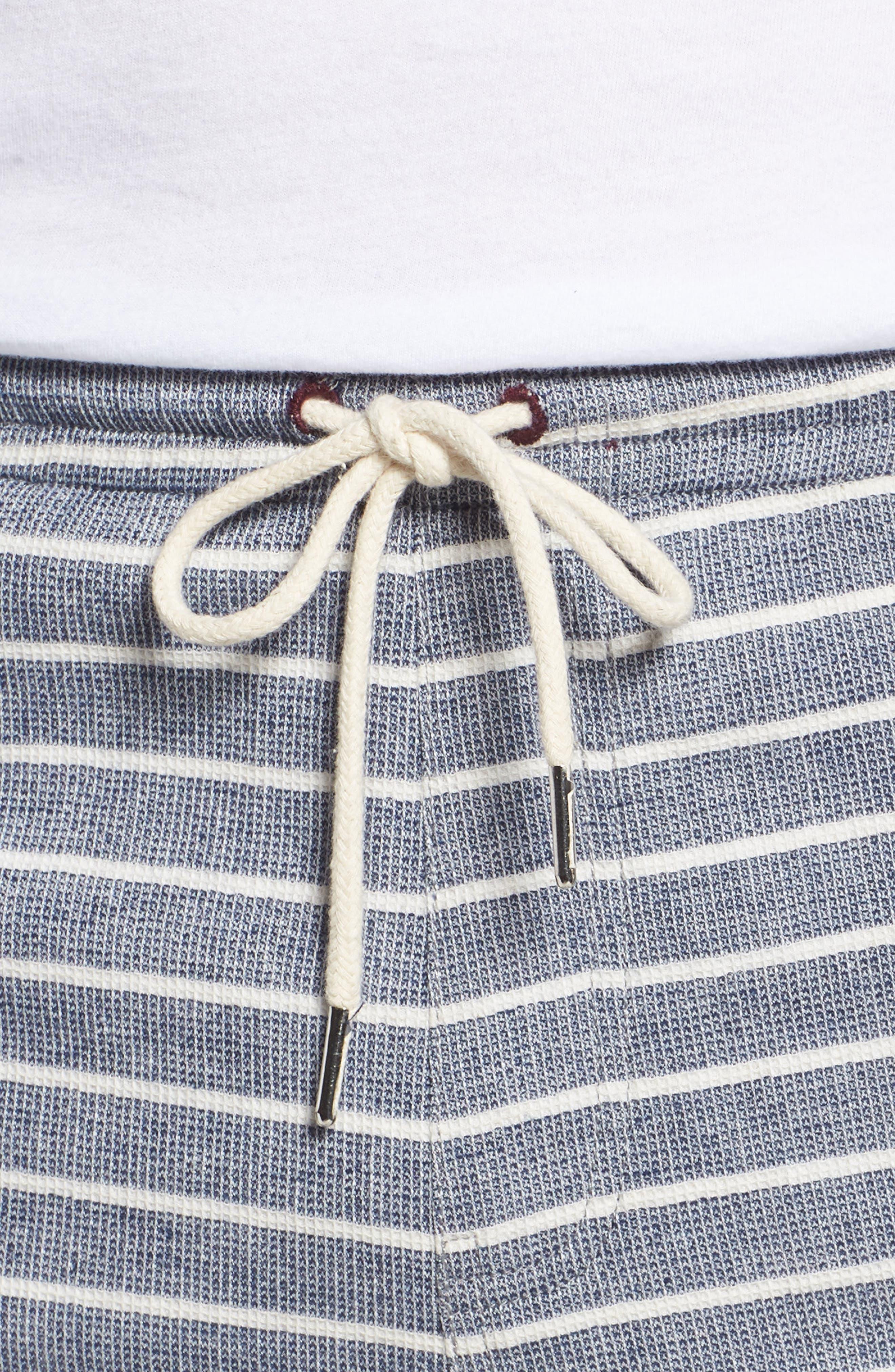 Steve Stripe Pull-On Shorts,                             Alternate thumbnail 4, color,                             Blue / White