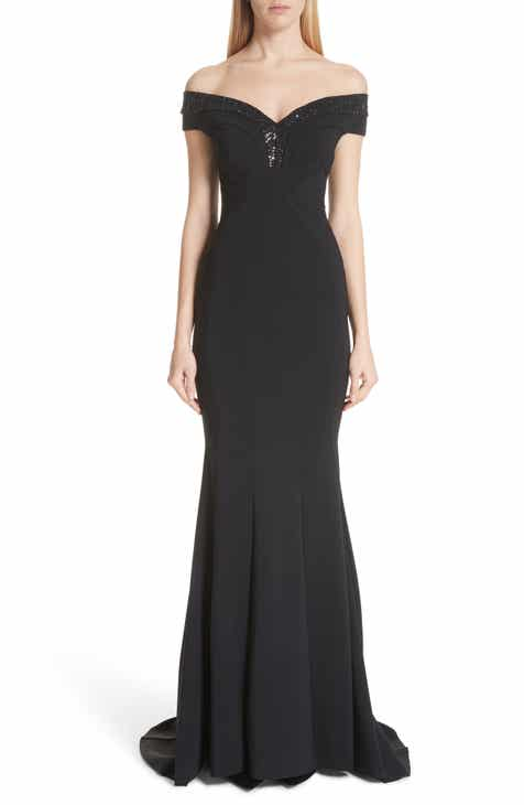 Chiara Boni La Petite Robe Gena Crystal Mermaid Gown