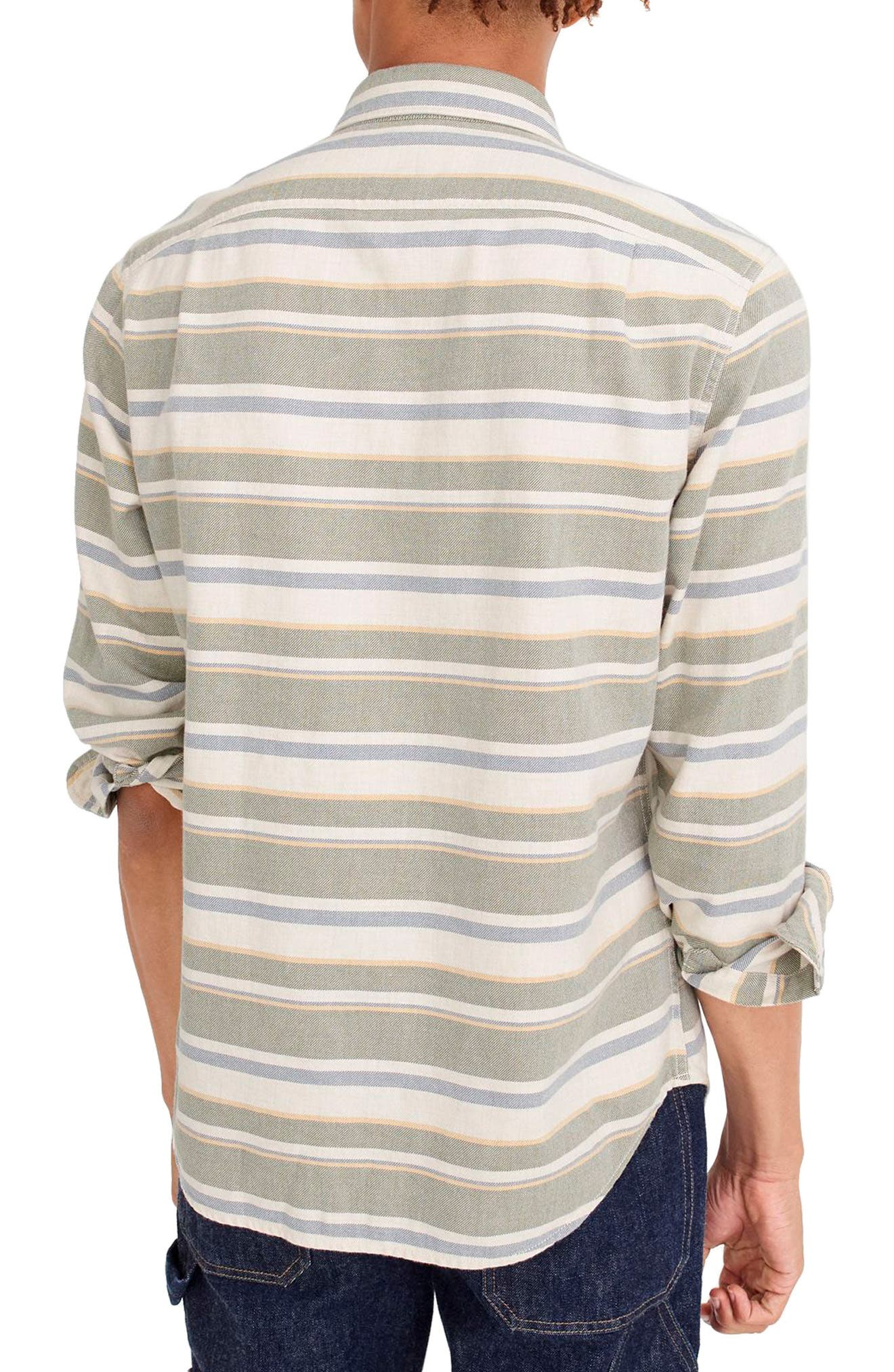 Alternate Image 2  - J.Crew Classic Fit Deck Stripe Work Shirt