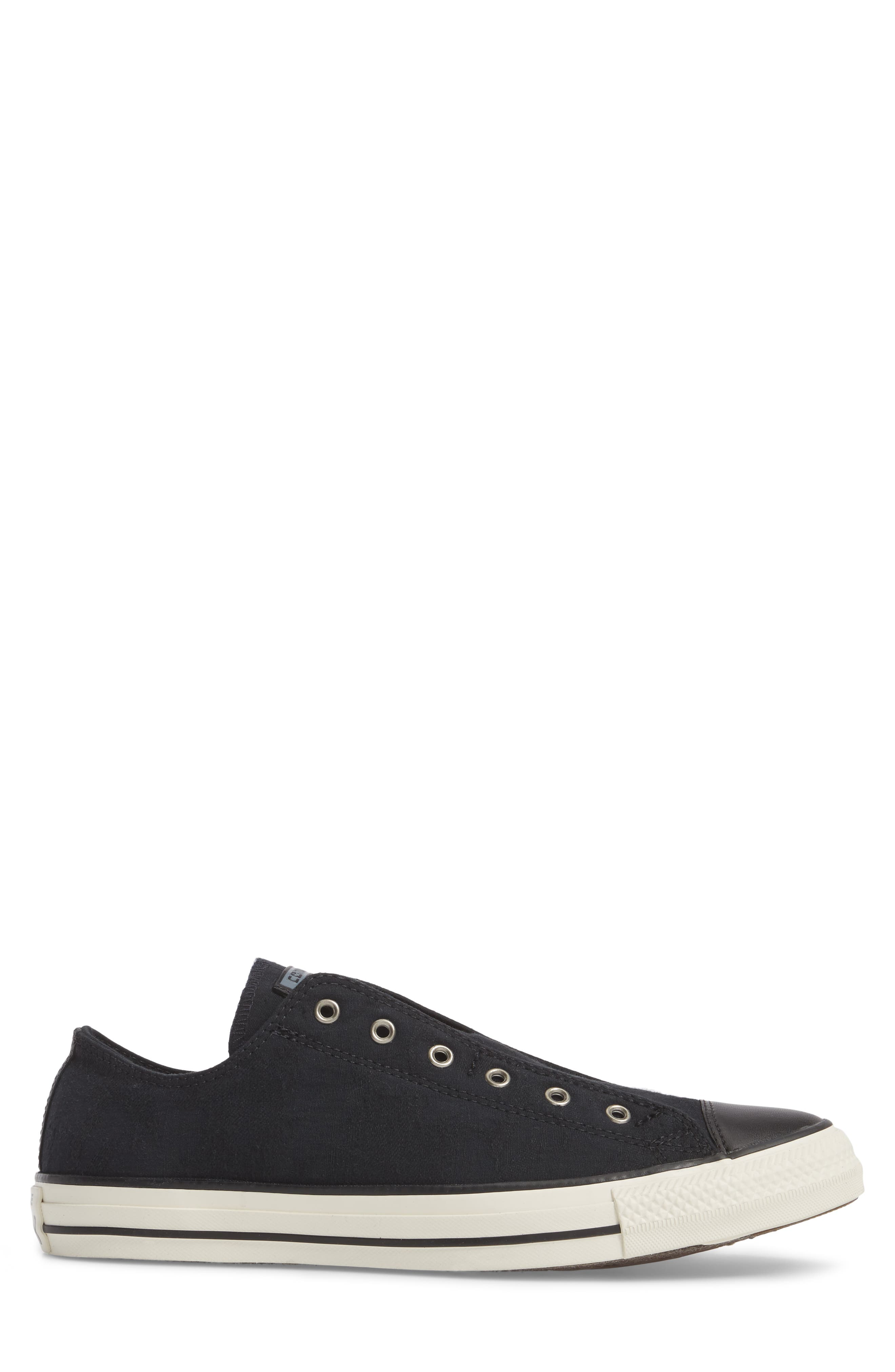 Chuck Taylor<sup>®</sup> All Star<sup>®</sup> Laceless Low Top Sneaker,                             Alternate thumbnail 3, color,                             Black