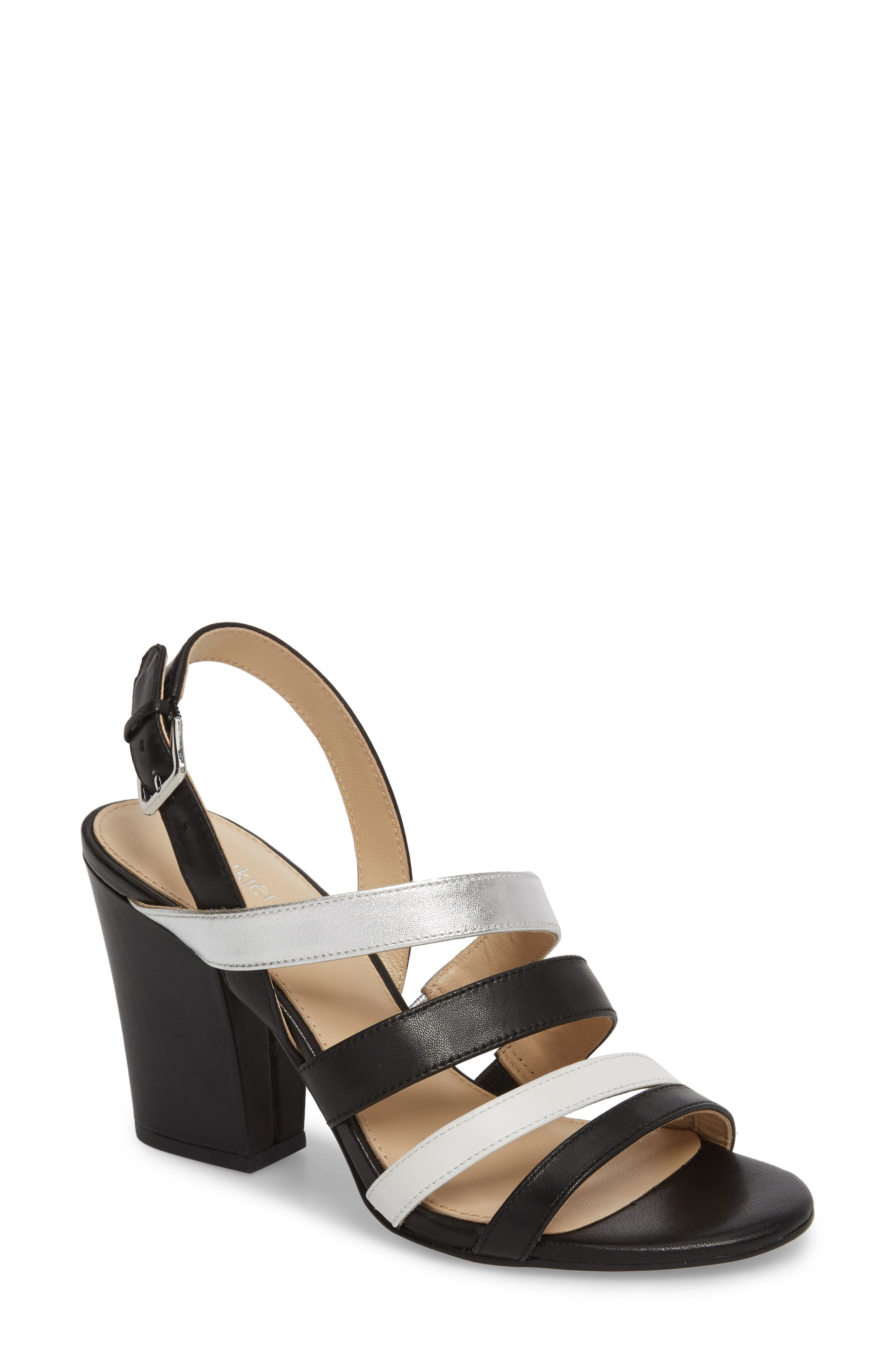 Sera Sandal,                         Main,                         color, Black Multi Leather