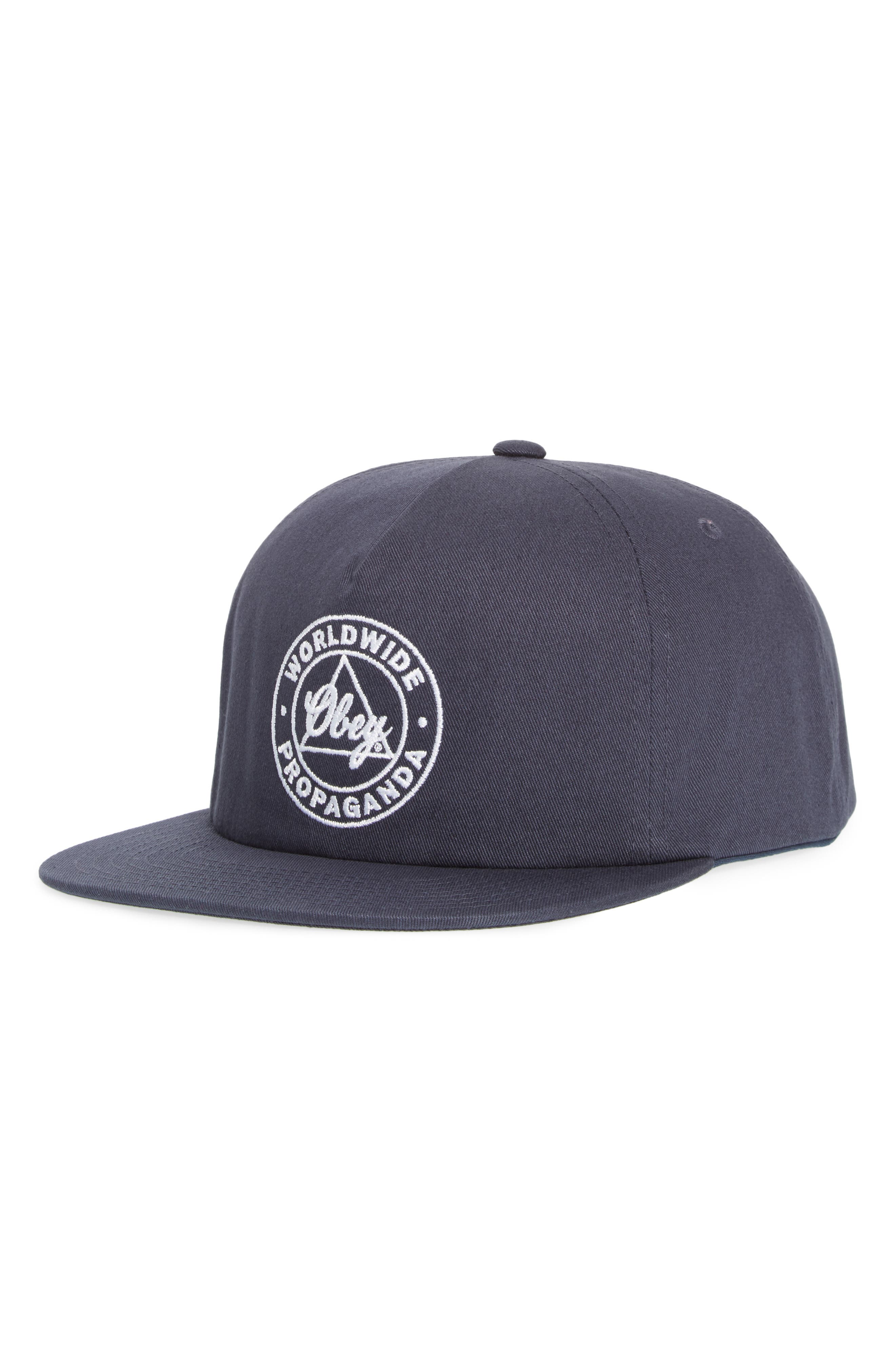 Worldwide Propaganda II Snapback Cap,                             Main thumbnail 1, color,                             Navy