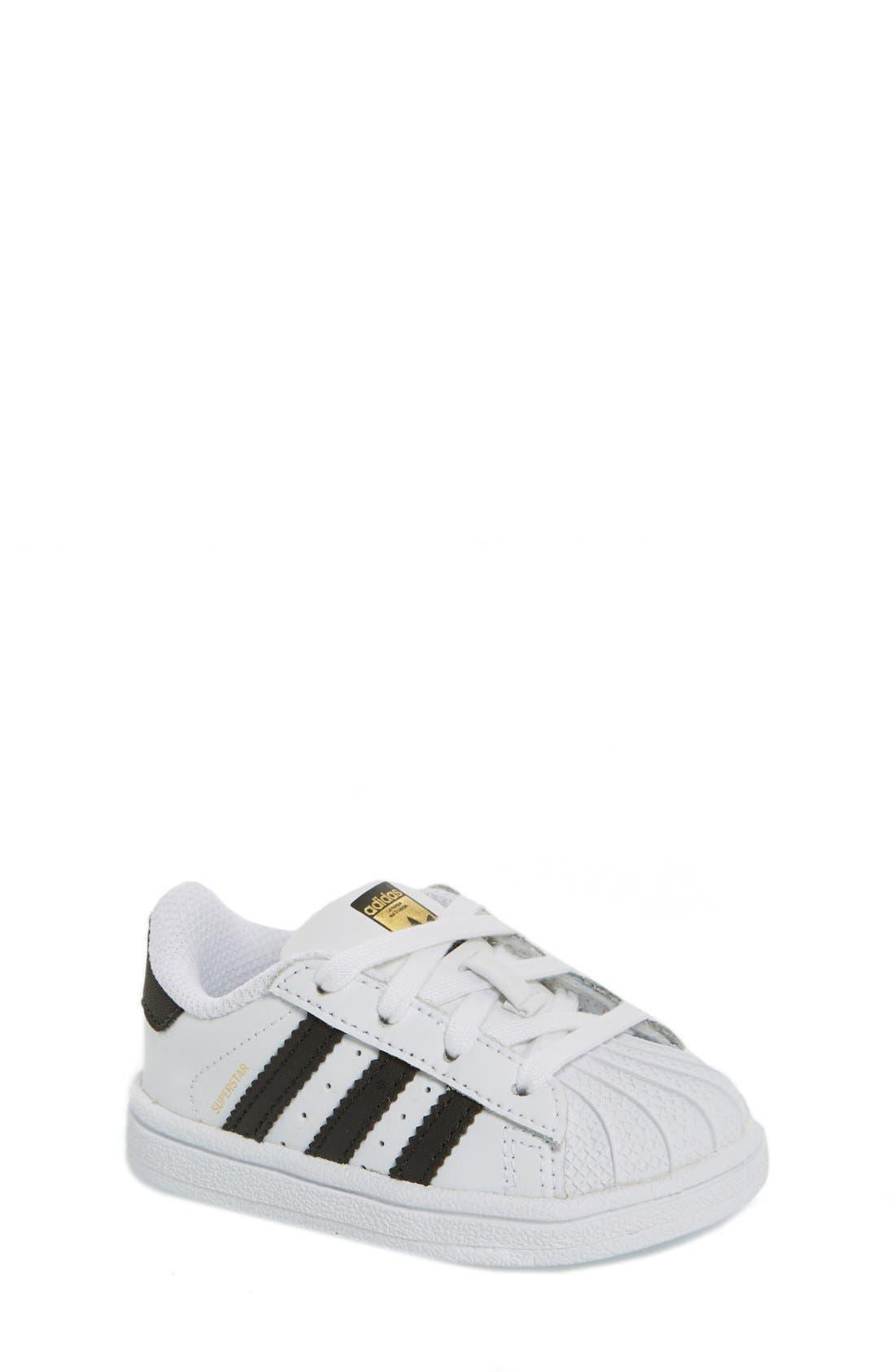 'Superstar' Sneaker,                             Main thumbnail 1, color,                             White/ Black