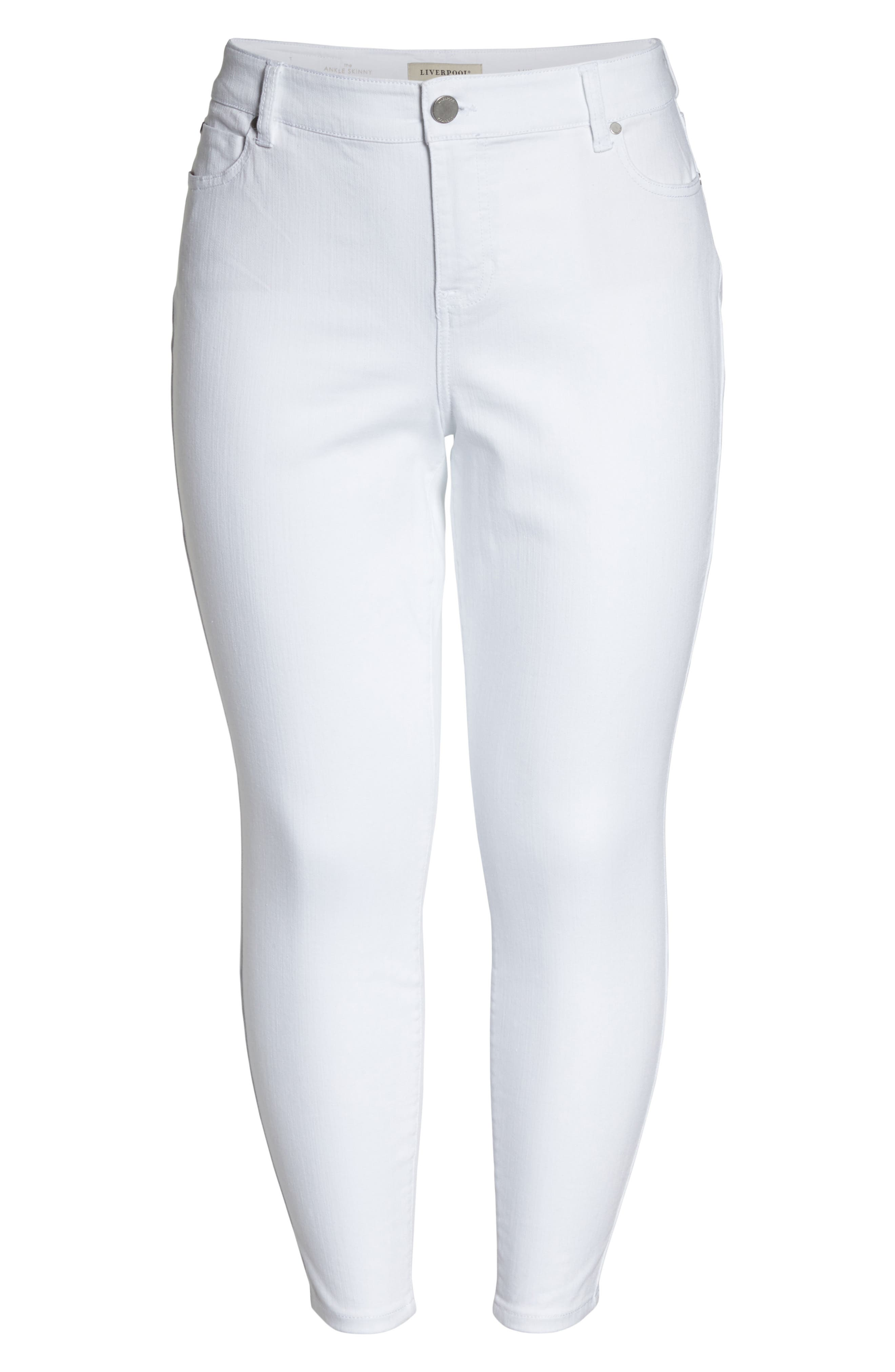 Penny Ankle Skinny Jeans,                             Alternate thumbnail 6, color,                             Bright White