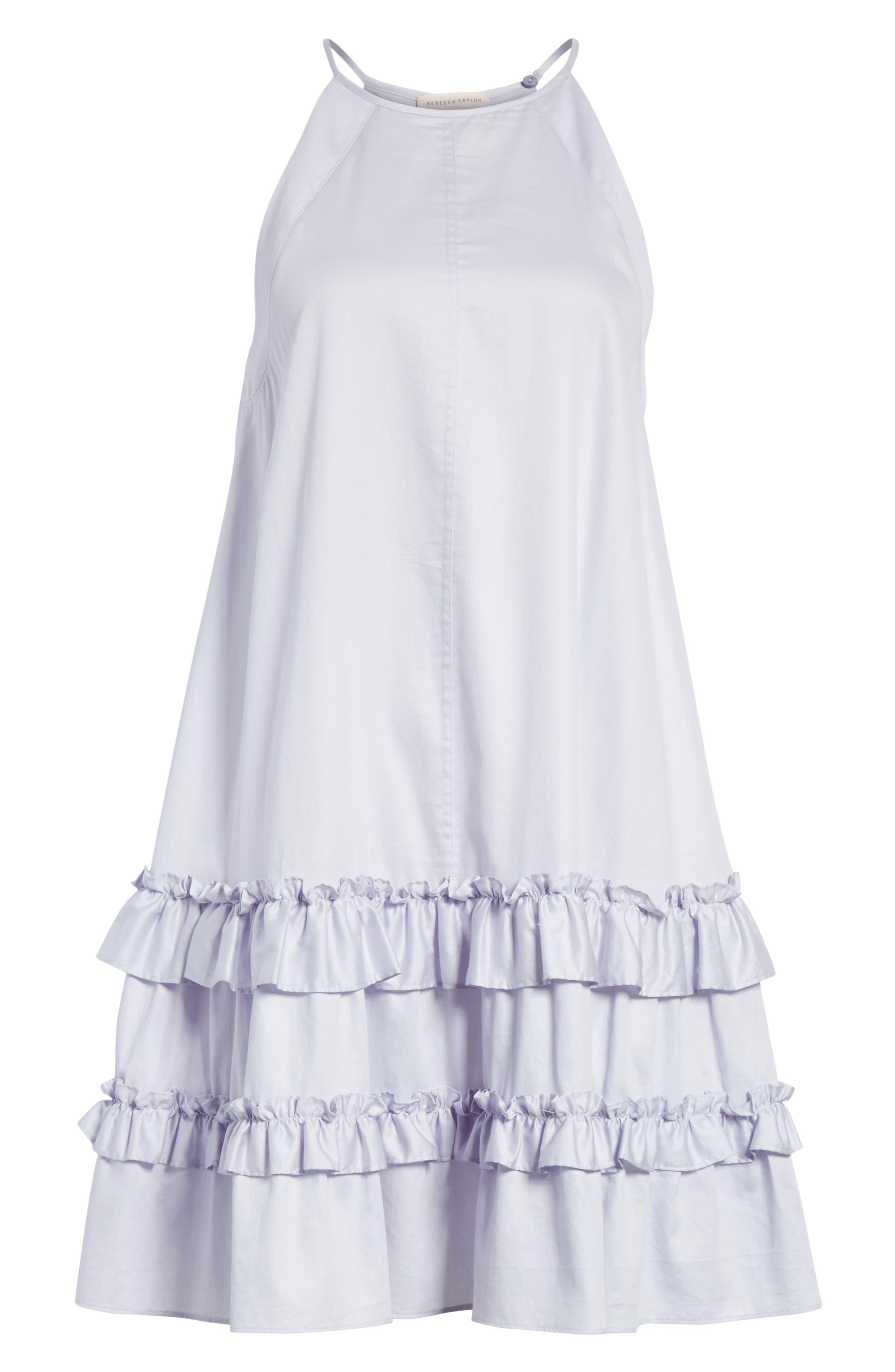 Alternate Image 6  - Rebecca Taylor Sleeveless Cotton Tank Dress