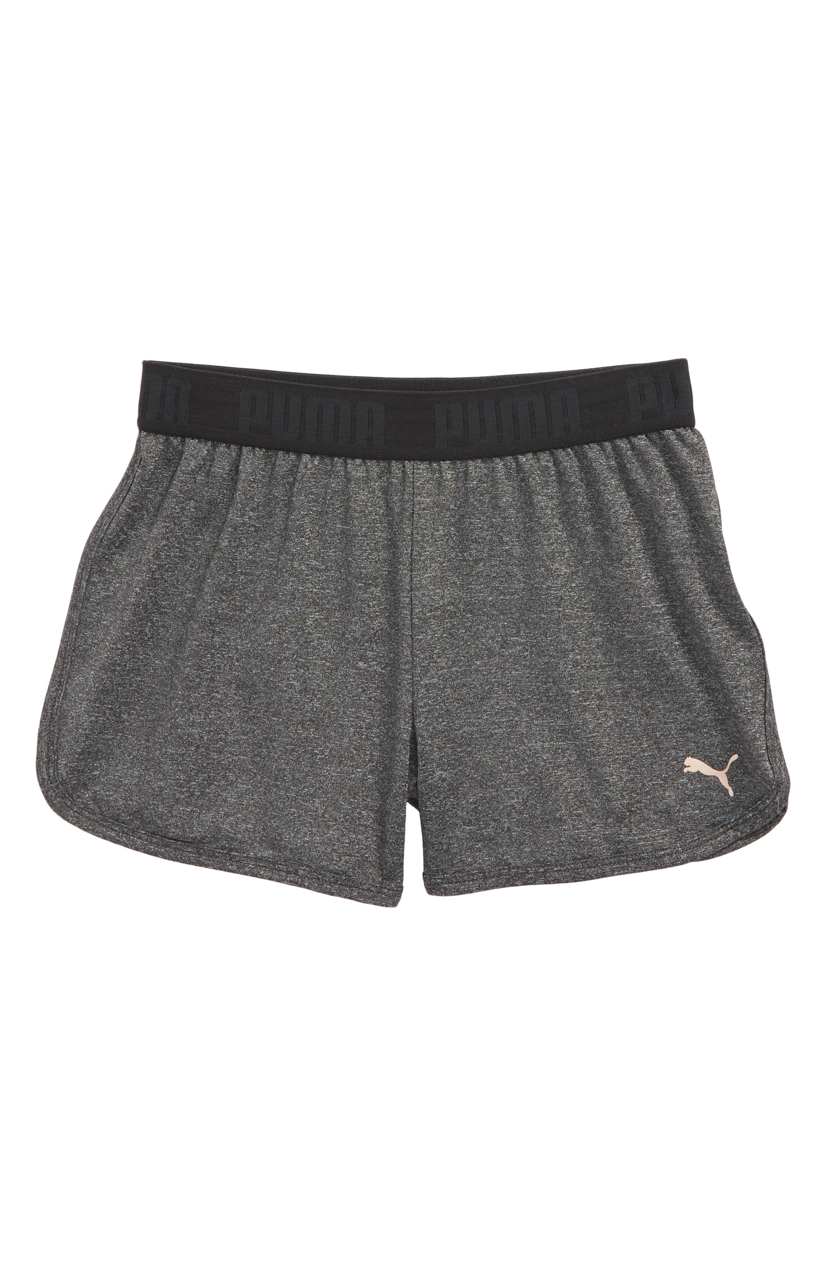 Main Image - PUMA Logo Sport Shorts (Big Girls)