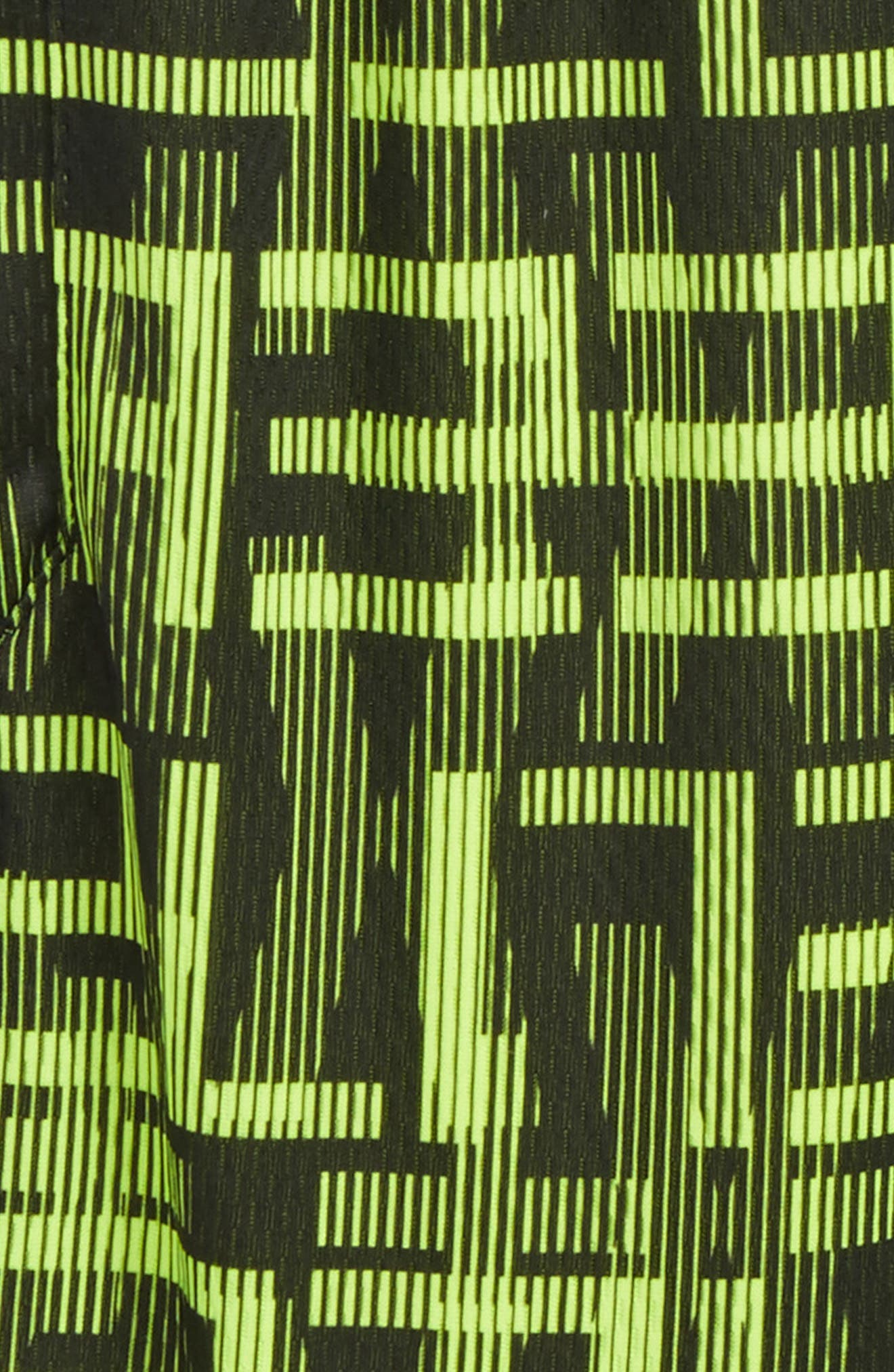 Elite Dry AOP Stripe Shorts,                             Alternate thumbnail 2, color,                             Volt