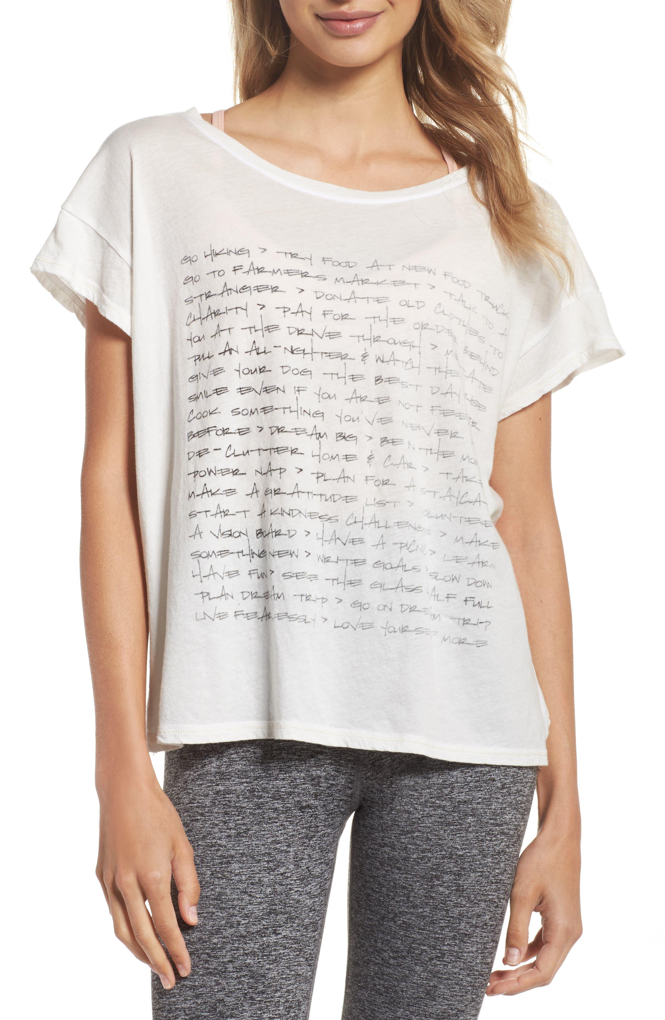 Claire To Do List Graphic Shirt,                             Main thumbnail 1, color,                             Salt