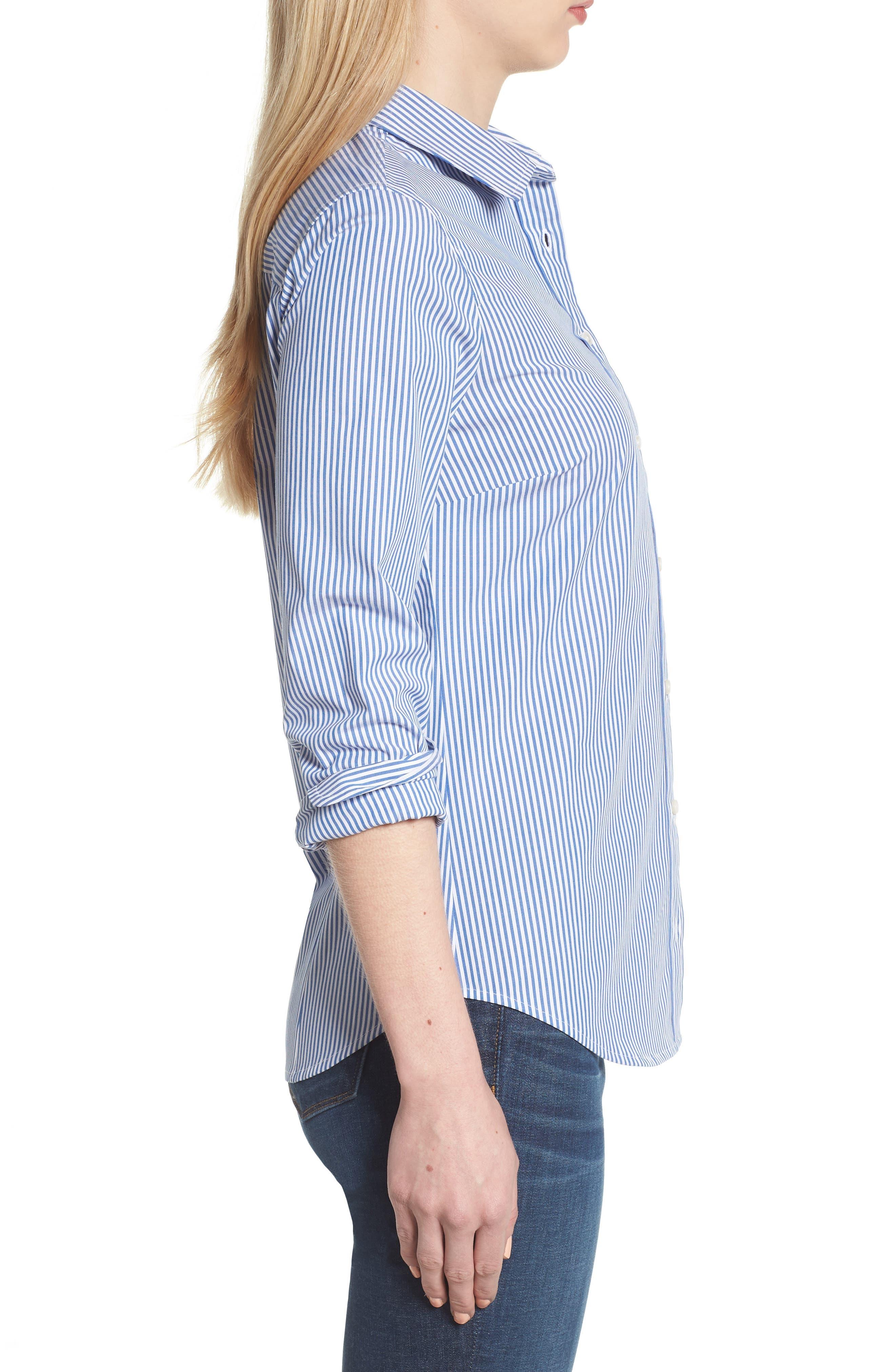 Alternate Image 2  - J.Crew Perfect Classic Stripe Stretch Cotton Shirt (Regular & Petite)