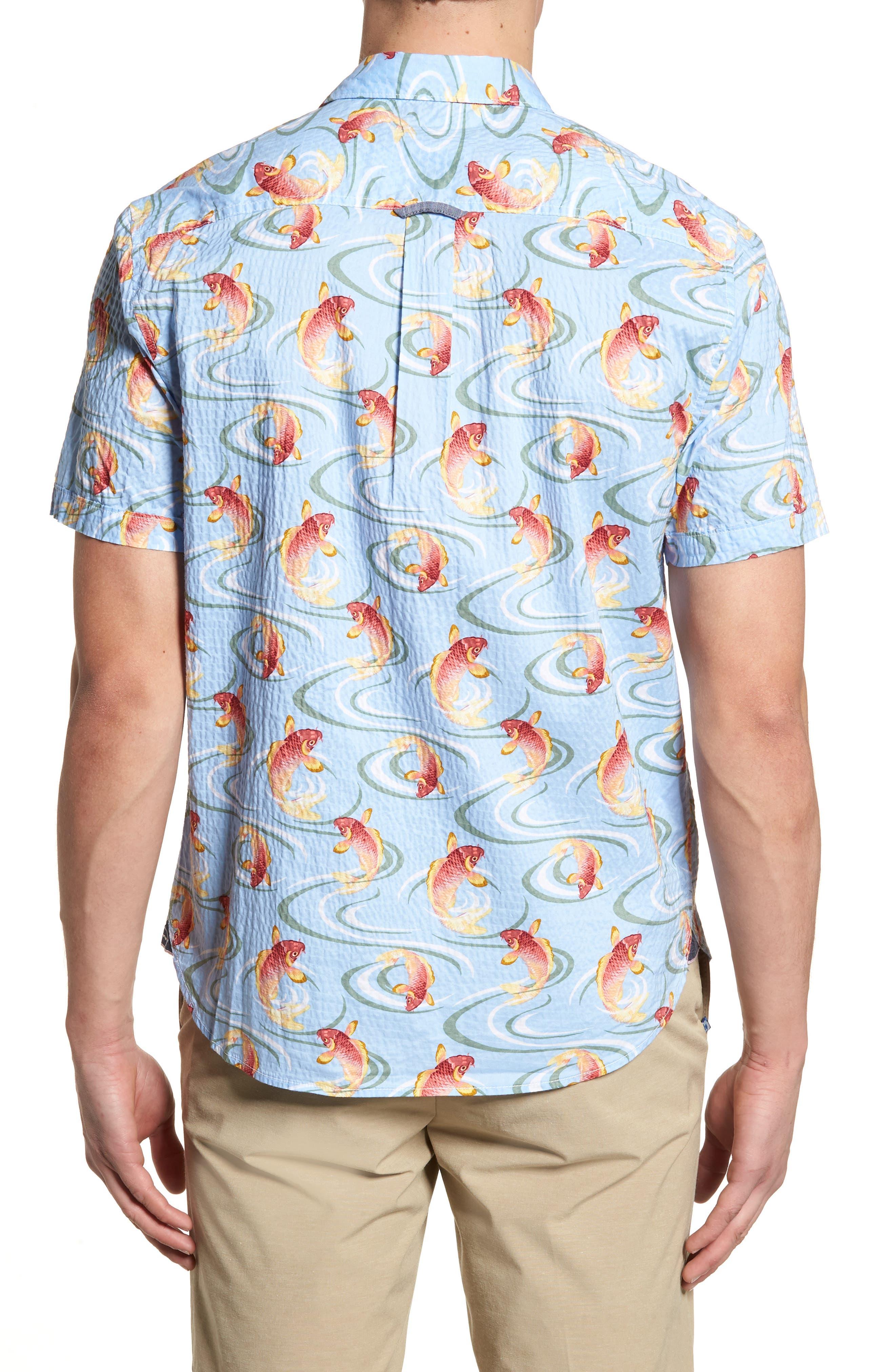 The Kois of Summer Regular Fit Camp Shirt,                             Alternate thumbnail 2, color,                             Light Sky