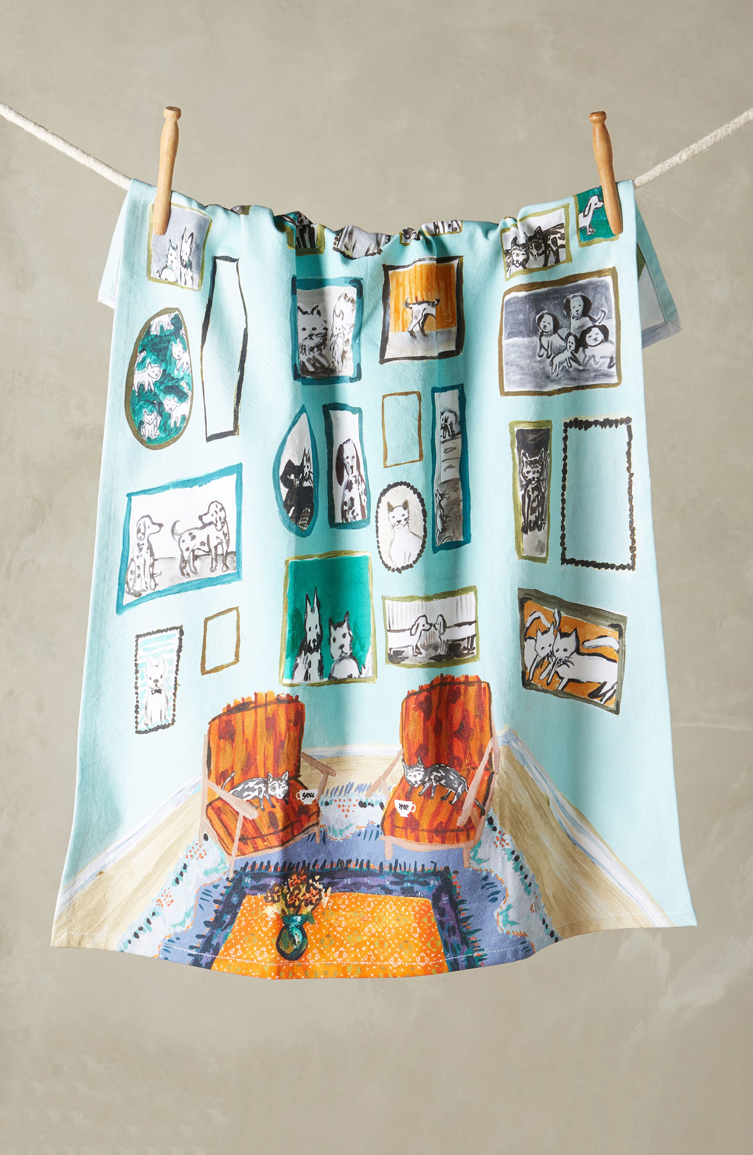 Anthropologie Post-Impressionism Tea Towel