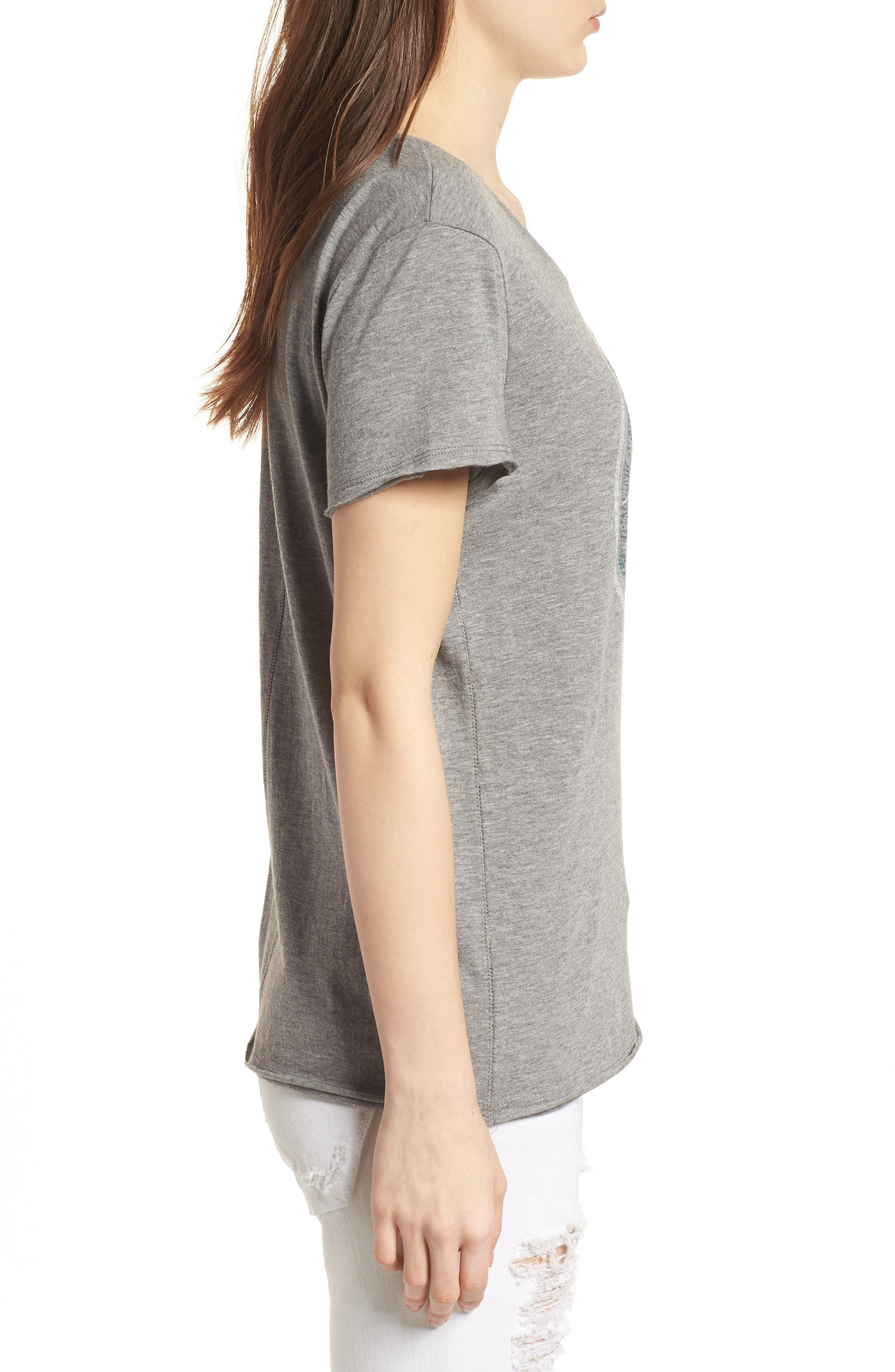 Seattle Mariners Fader Letter Tee,                             Alternate thumbnail 3, color,                             Slate Grey
