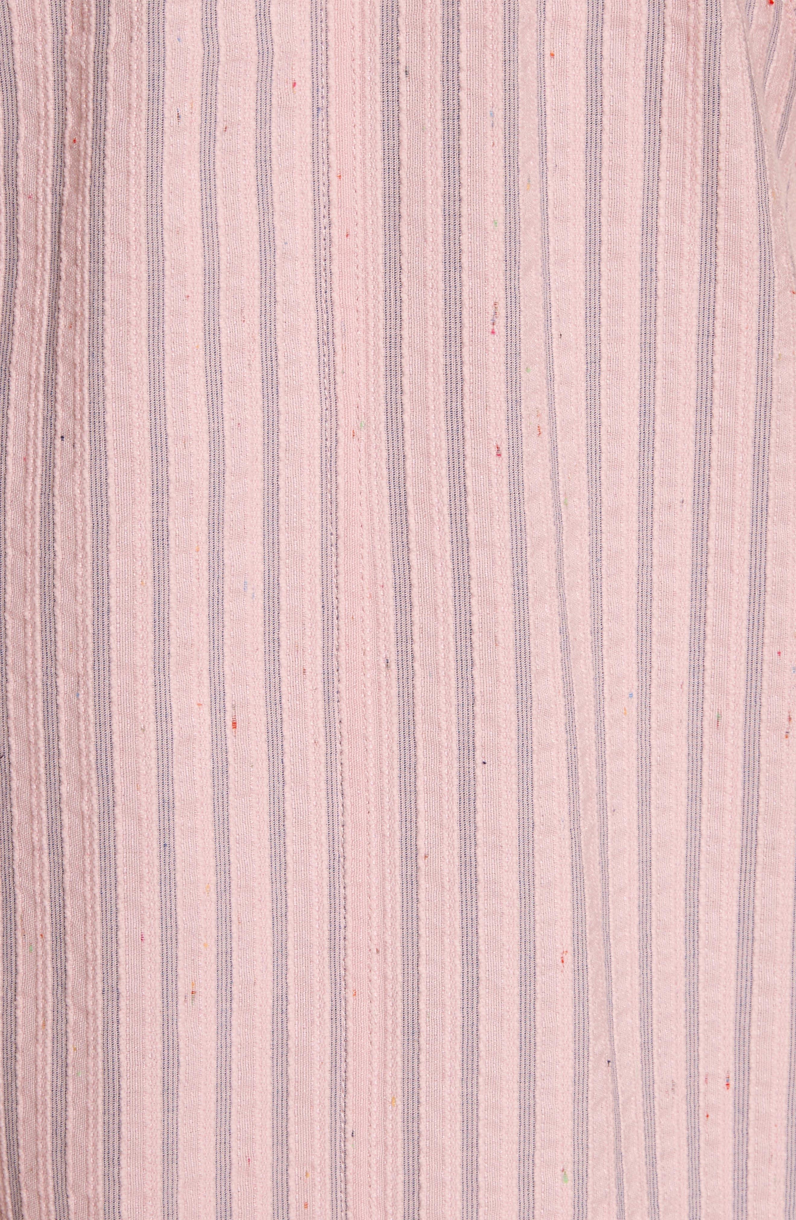 Sleeveless Stripe Tank Dress,                             Alternate thumbnail 5, color,                             Candy Floss Combo