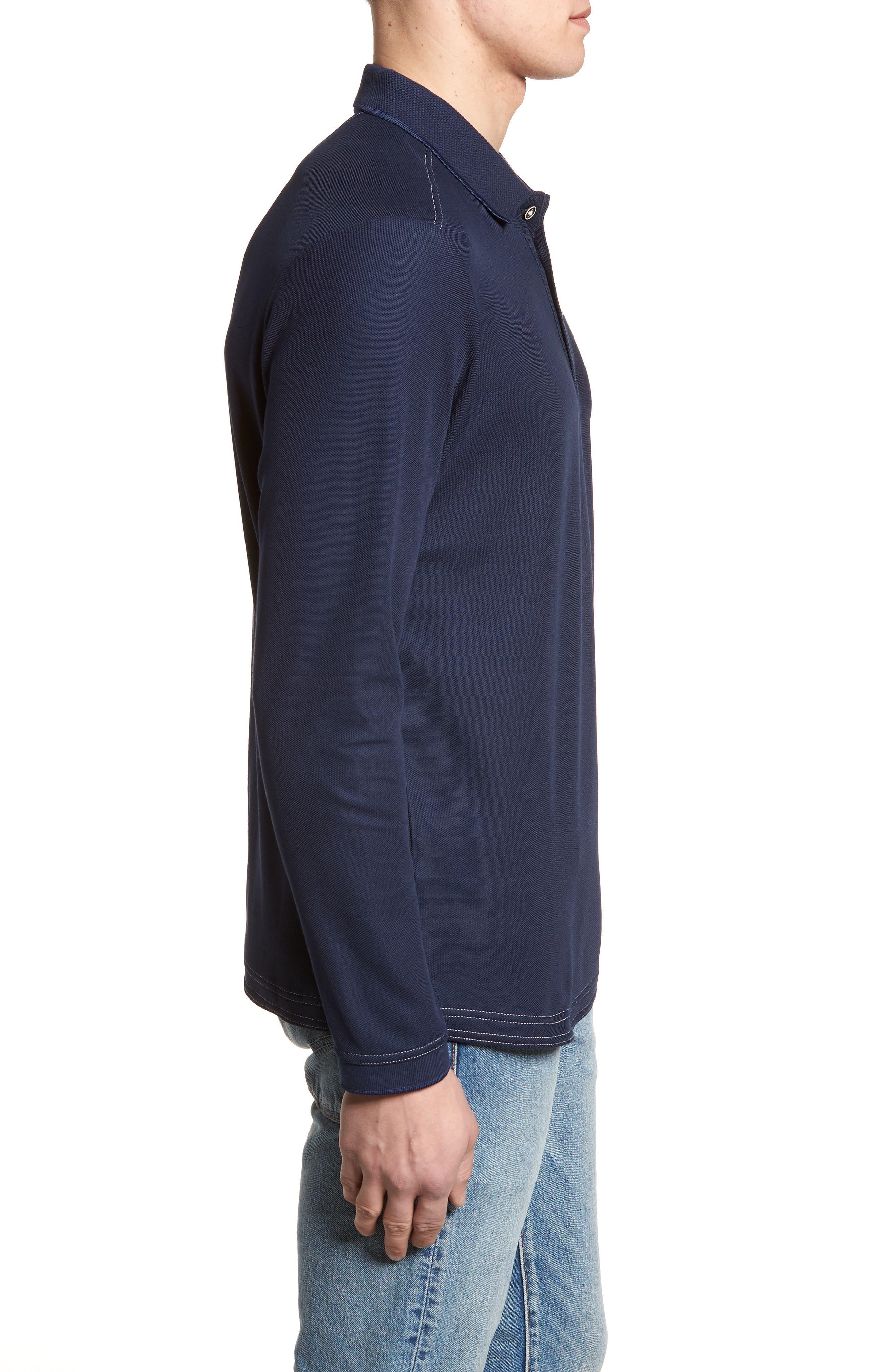Emfielder Long Sleeve Polo,                             Alternate thumbnail 3, color,                             Blue Note