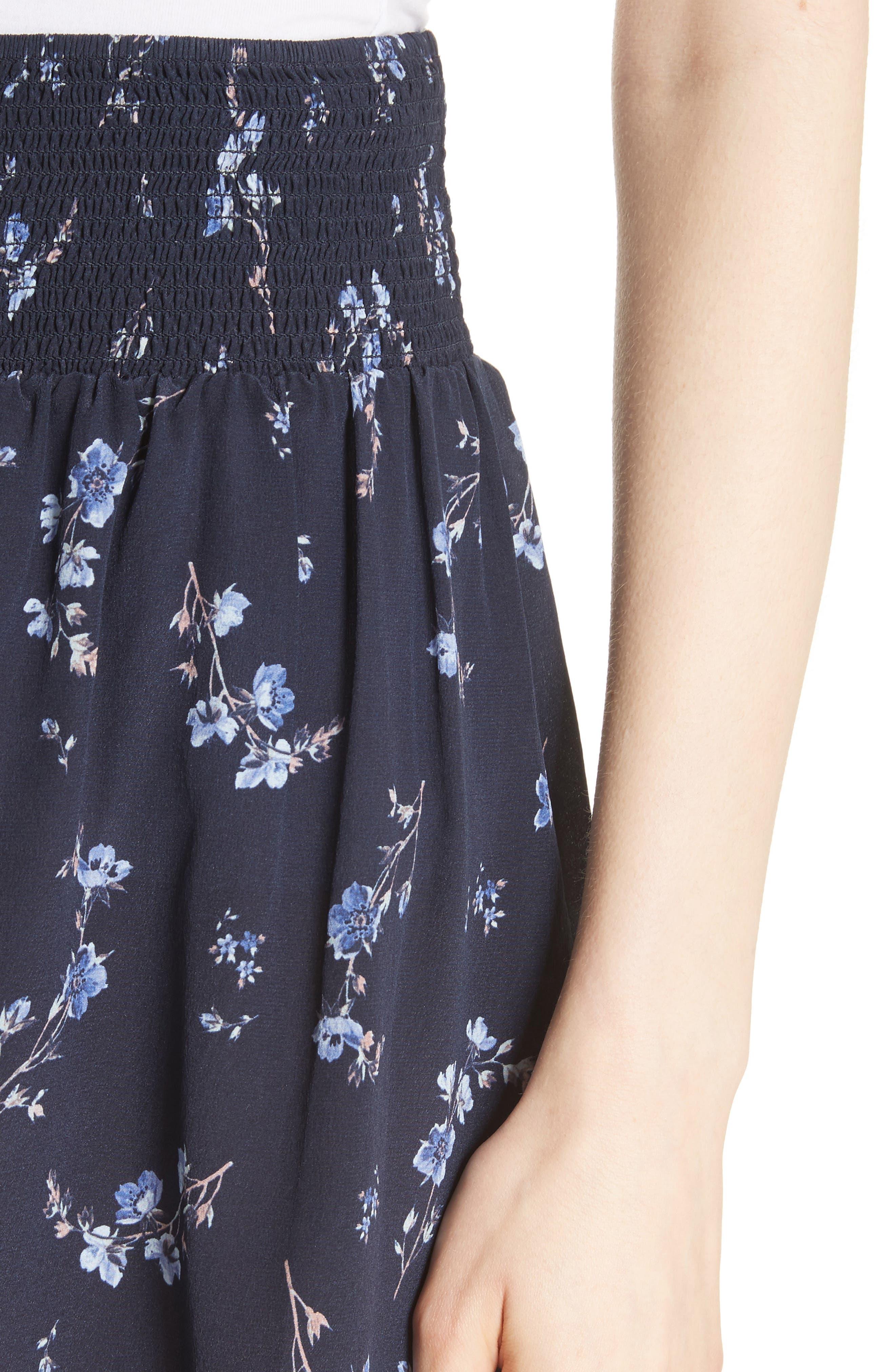 Alternate Image 4  - Rebecca Taylor Francine Floral Silk Shorts
