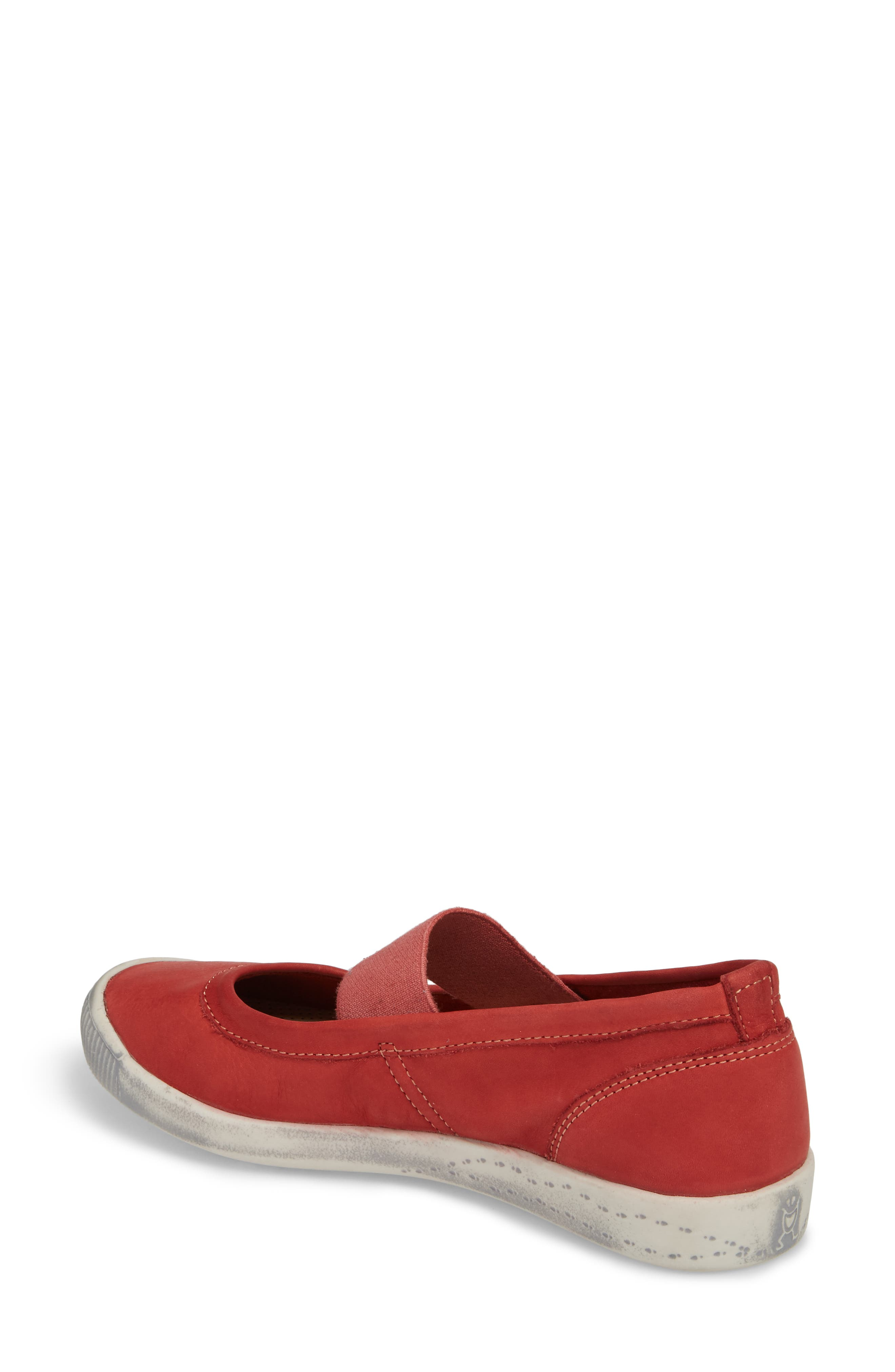 Ion Mary Jane Sneaker,                             Alternate thumbnail 2, color,                             Red Leather