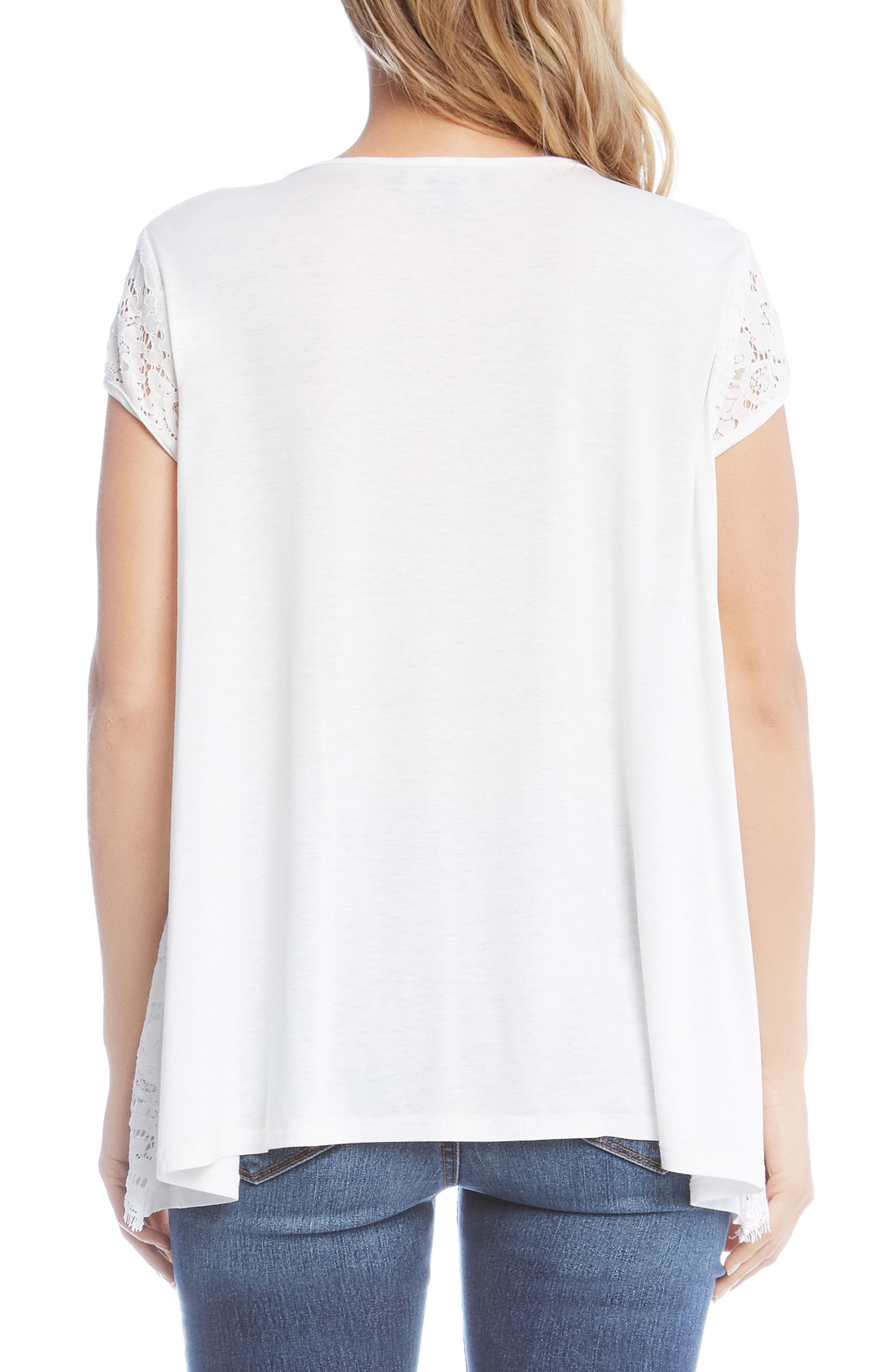 Lace Top,                             Alternate thumbnail 2, color,                             Off White