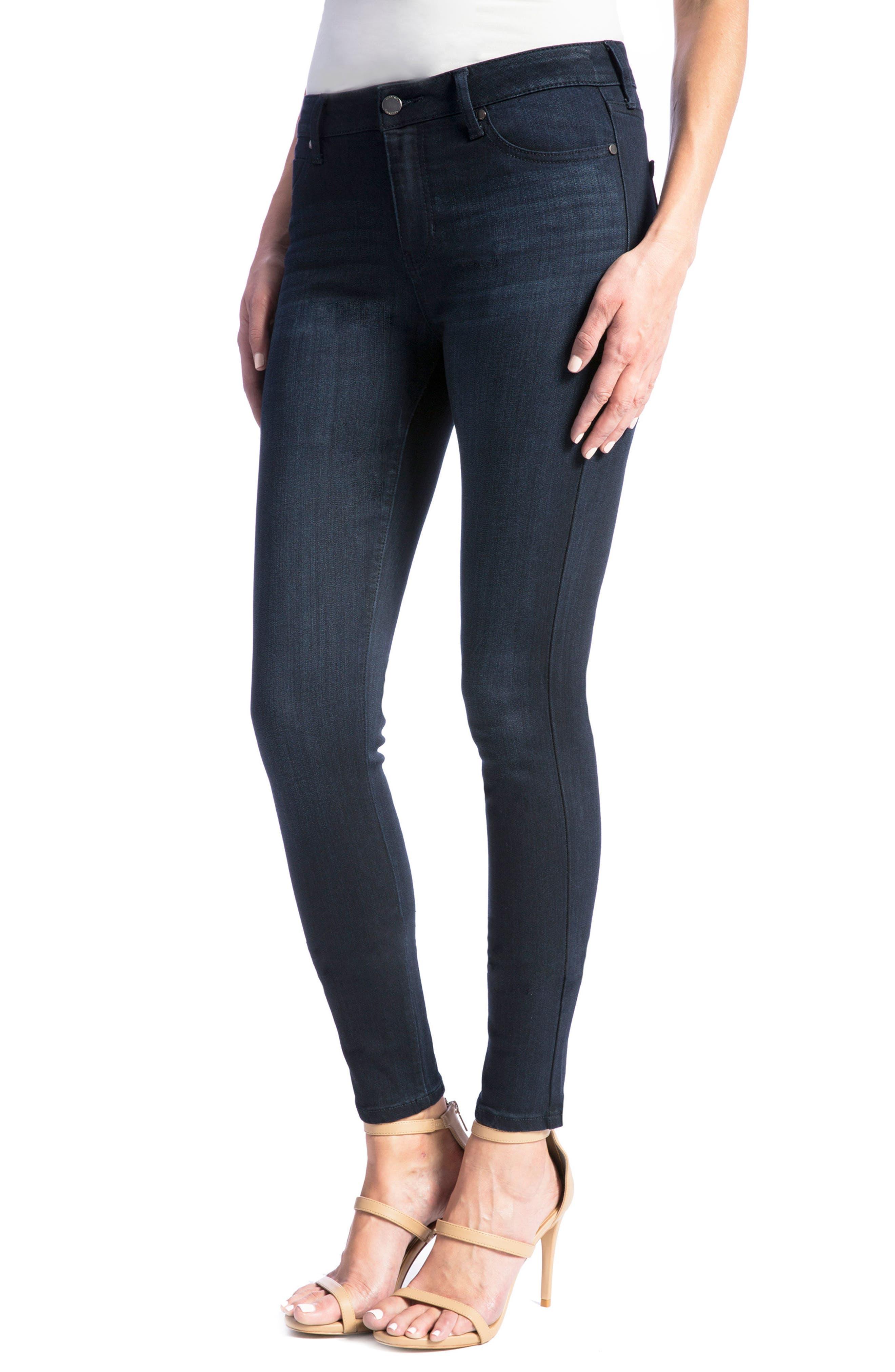 Abby Skinny Jeans,                             Alternate thumbnail 4, color,                             Stonewash