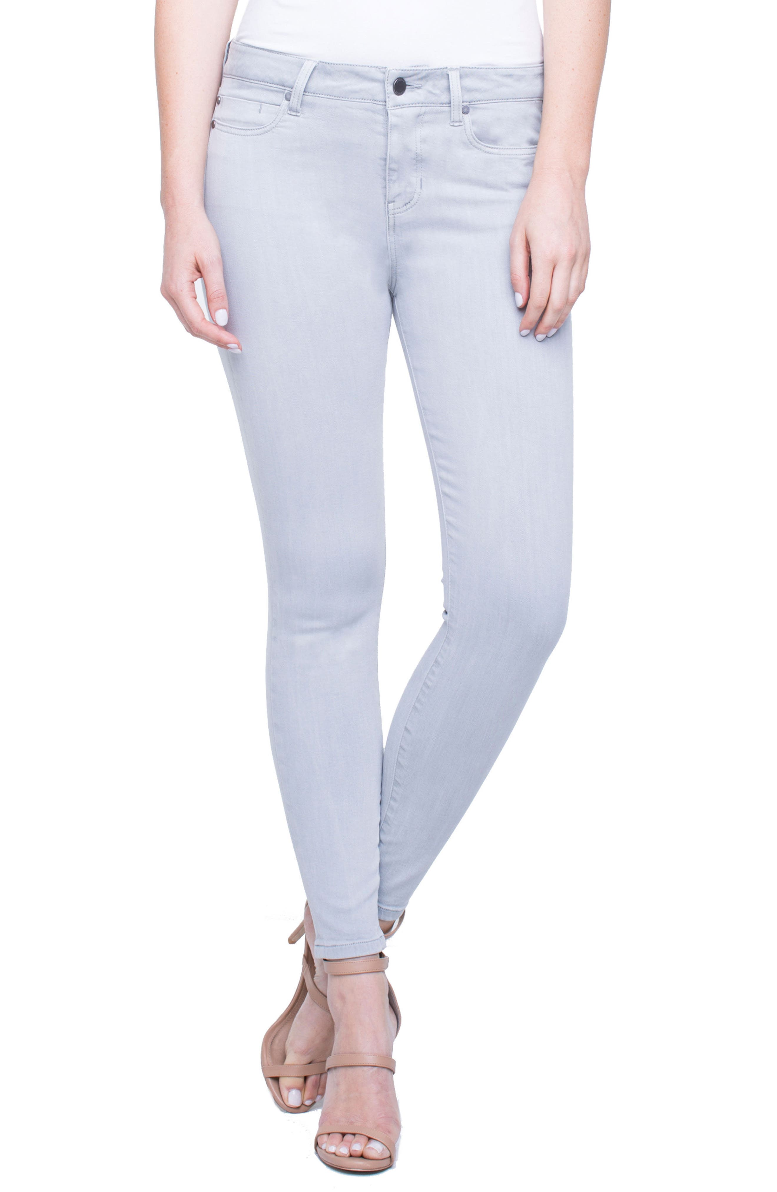 Penny Ankle Skinny Jeans,                             Main thumbnail 1, color,                             Fossil Grey